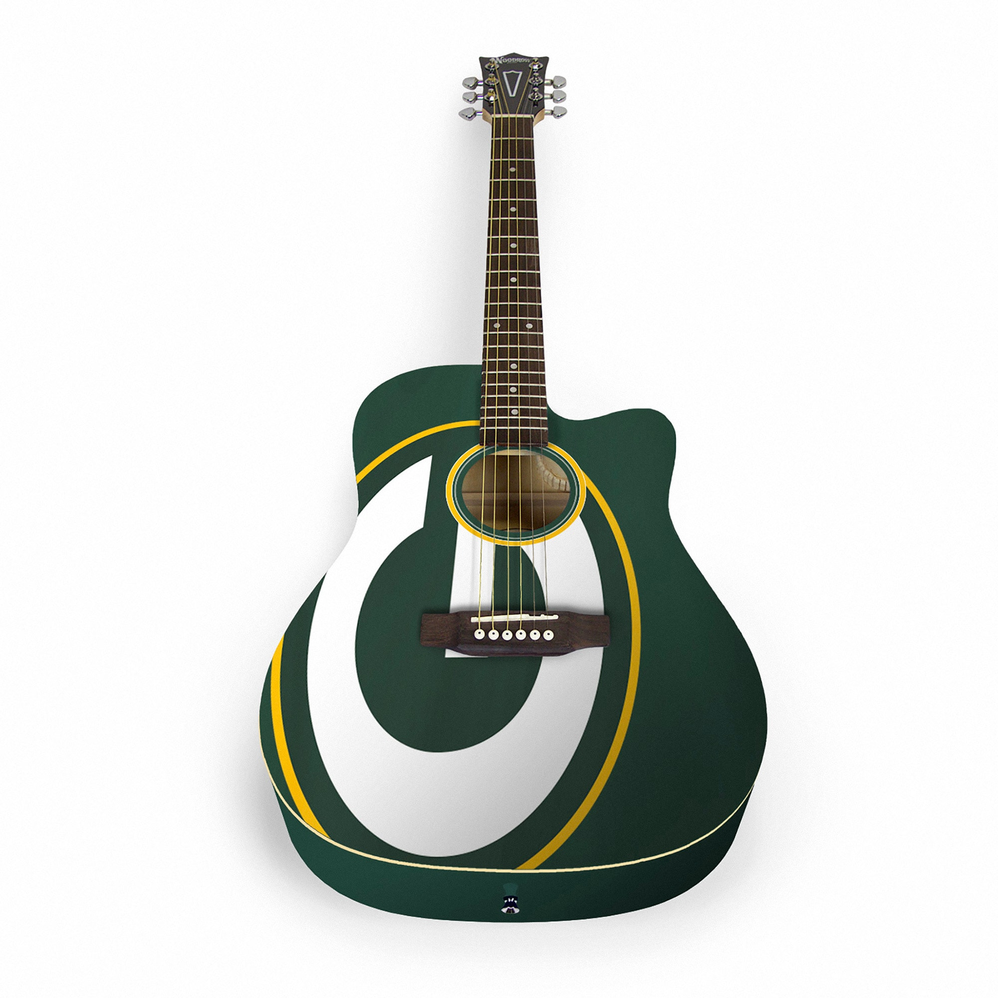 Green Bay Packers Woodrow Acoustic Guitar