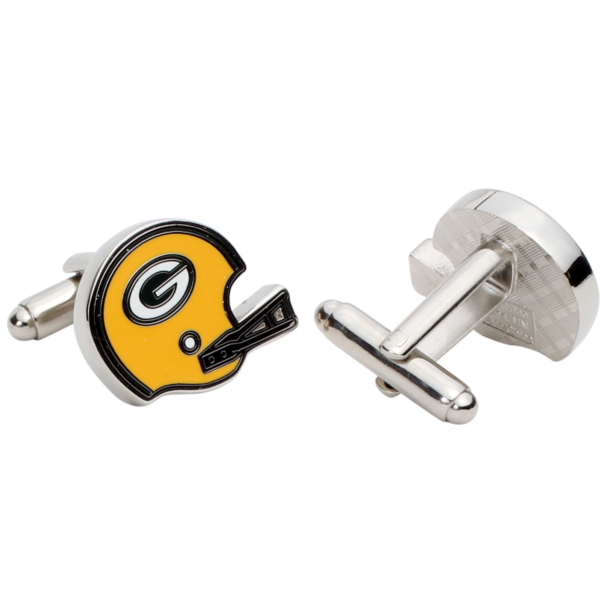 Green Bay Packers Silver-Plated Team Logo Cufflinks