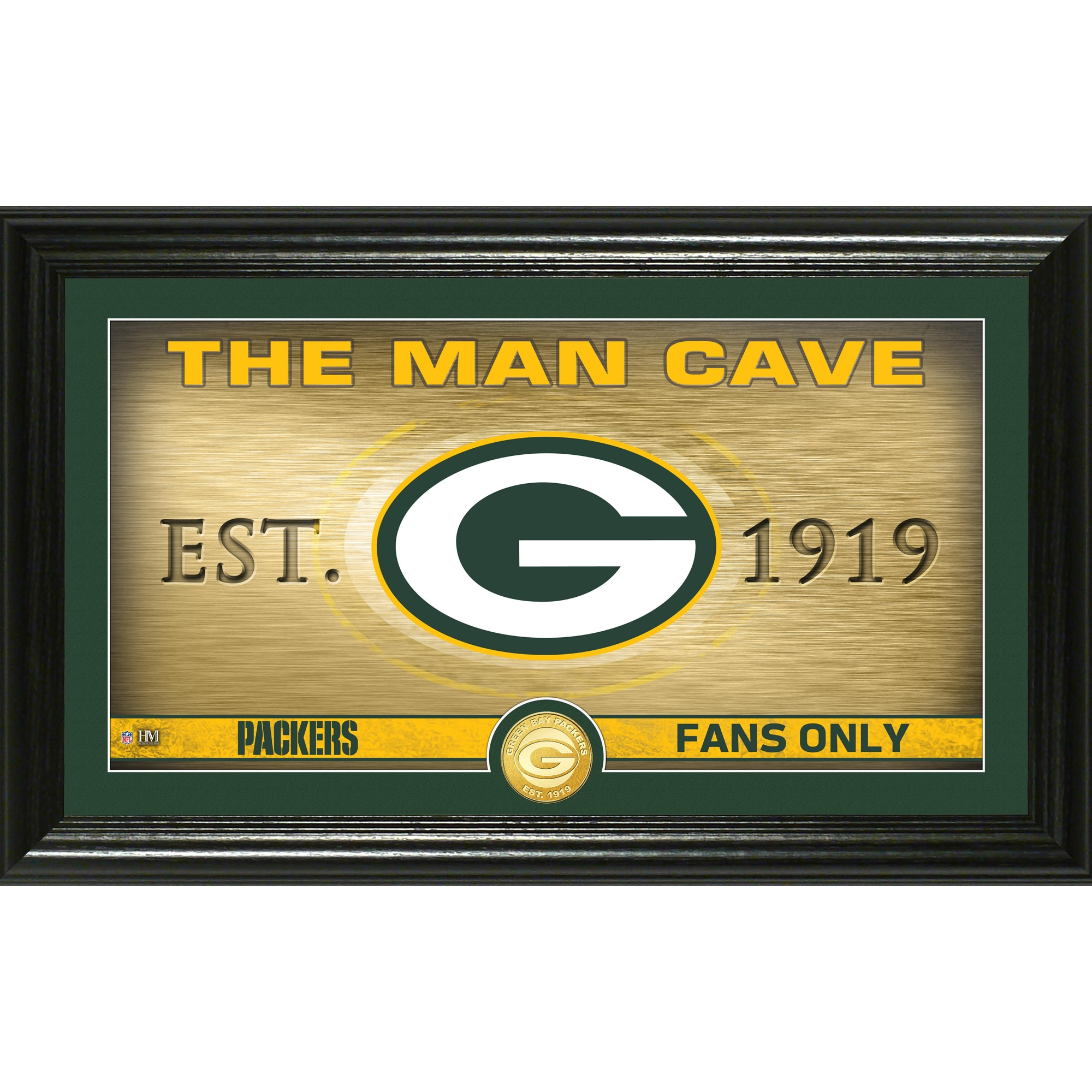 "Green Bay Packers Highland Mint 12"" x 20"" Man Cave Photo Mint"
