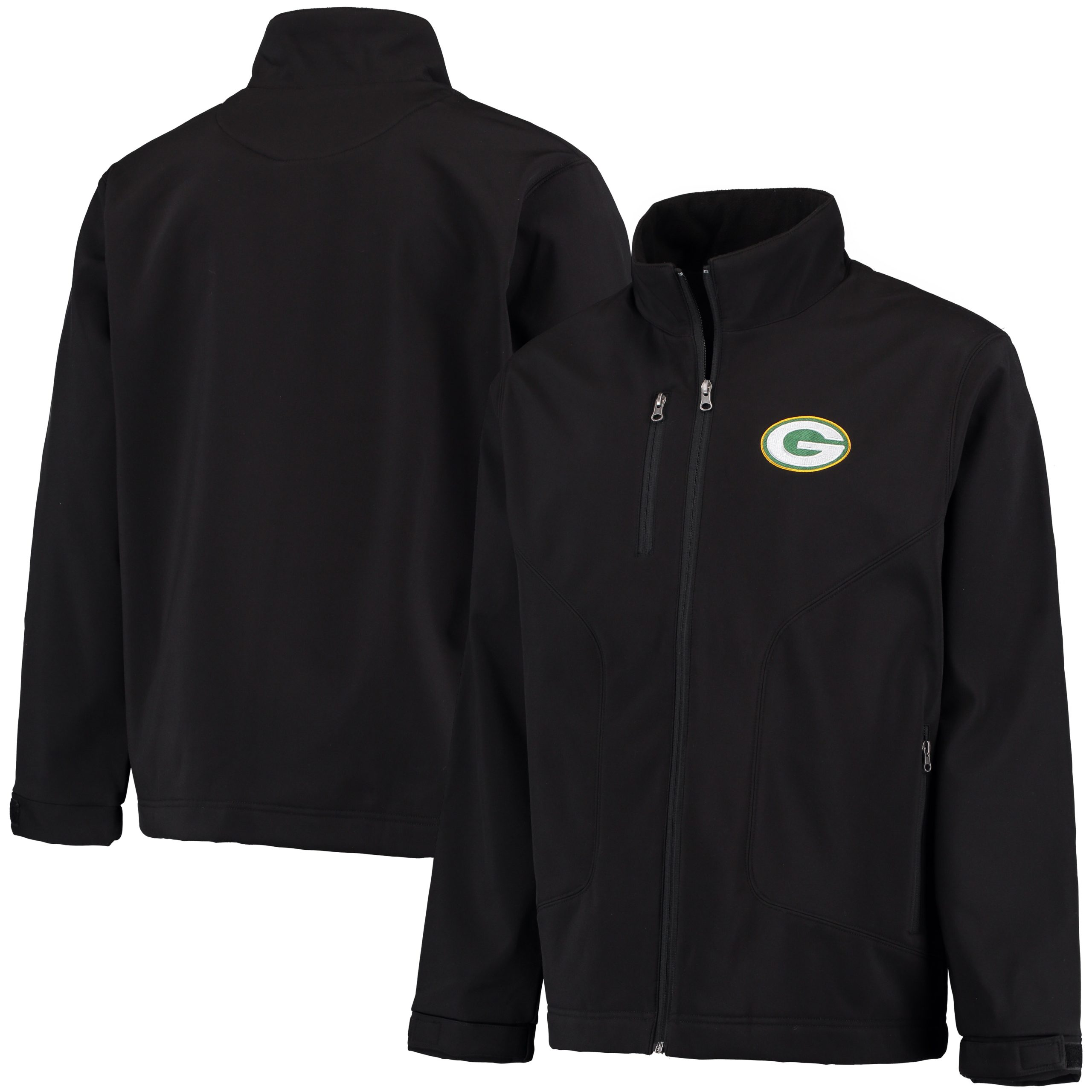 Green Bay Packers G-III Sports by Carl Banks Strong Side Soft Shell Jacket - Black
