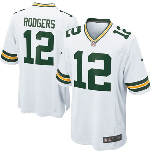 Aaron Rodgers Green Bay Packers Nike Youth Game Jersey - White