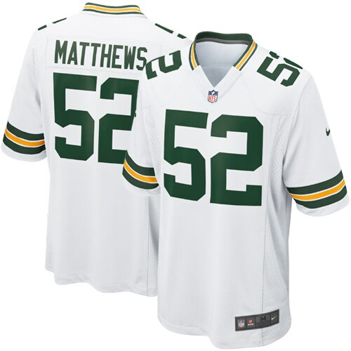 Clay Matthews Green Bay Packers Nike Youth Game Jersey - White