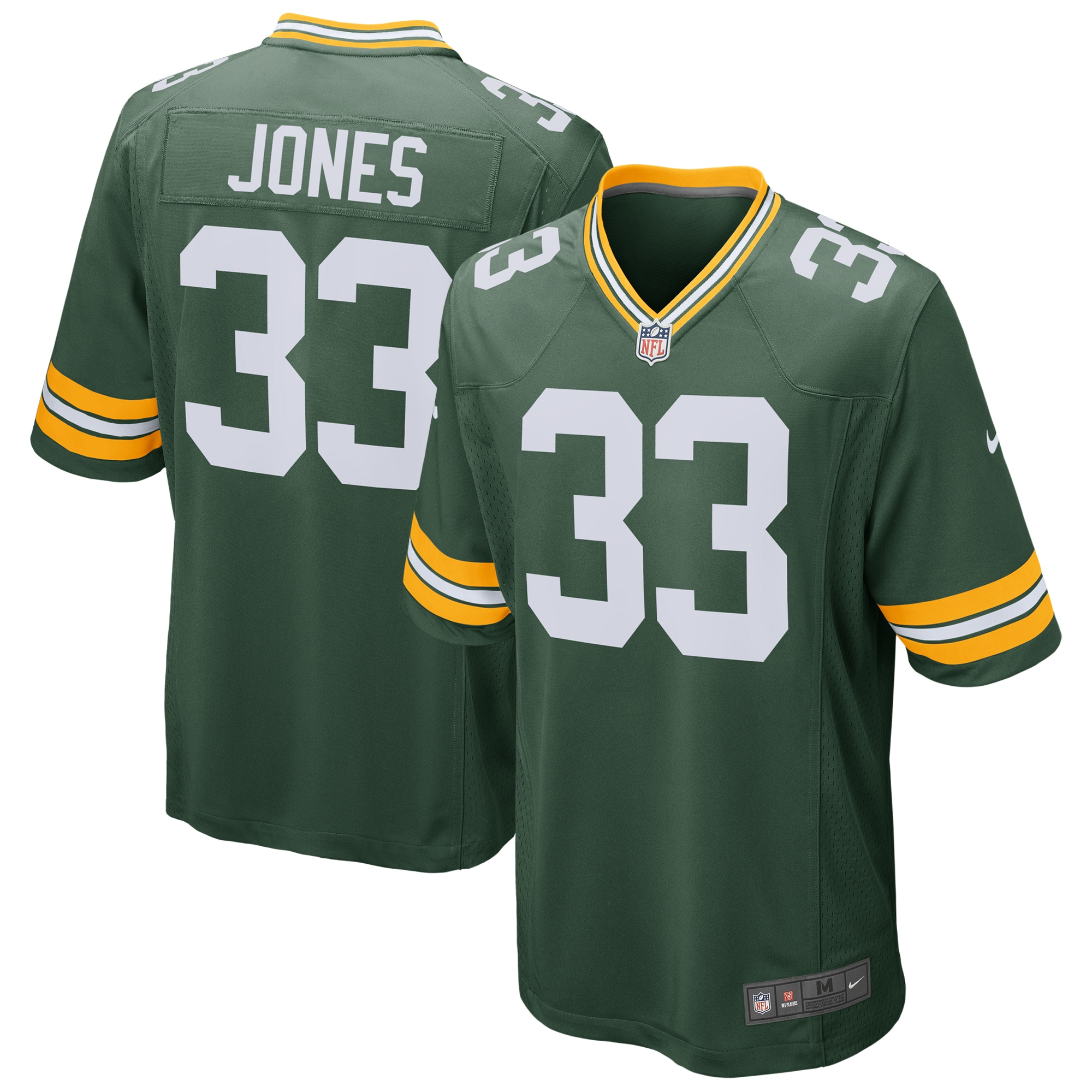 Aaron Jones Green Bay Packers Nike Game Jersey - Green