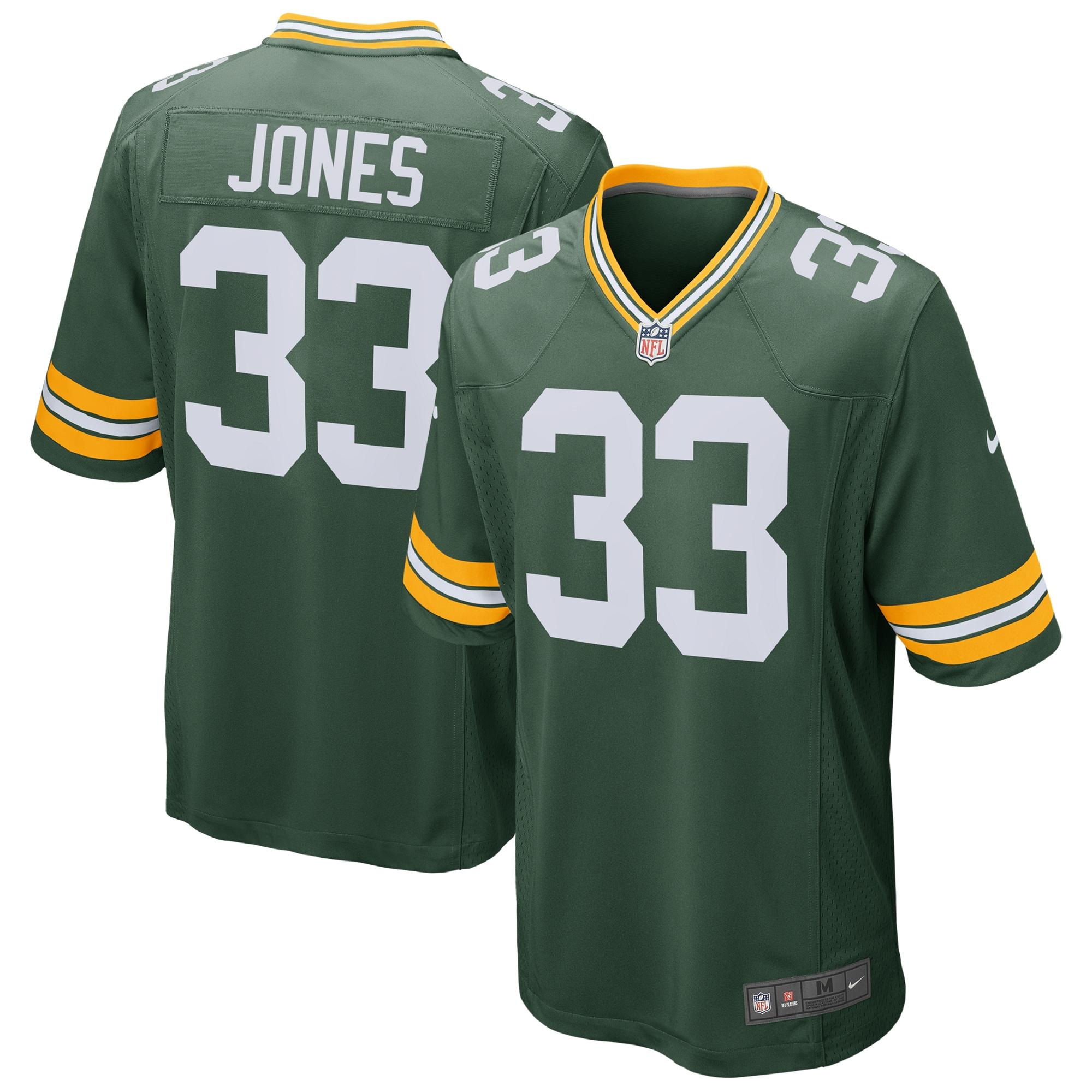 Aaron Jones Green Bay Packers Nike Game Jersey - Green