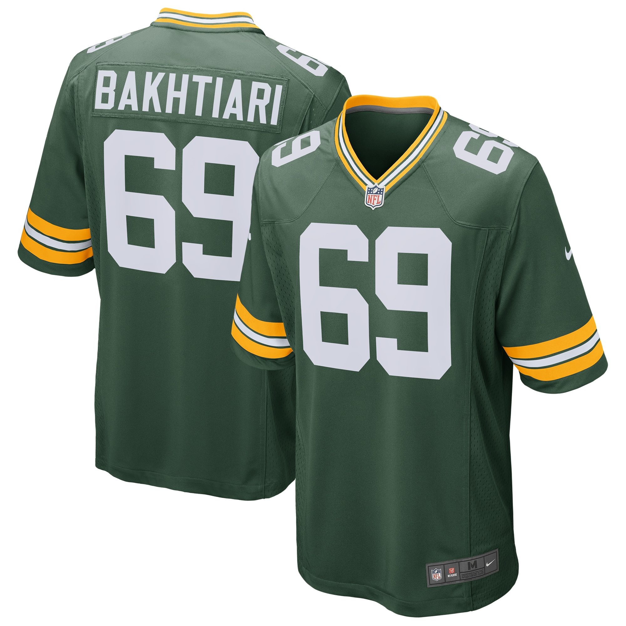 David Bakhtiari Green Bay Packers Nike Game Jersey - Green