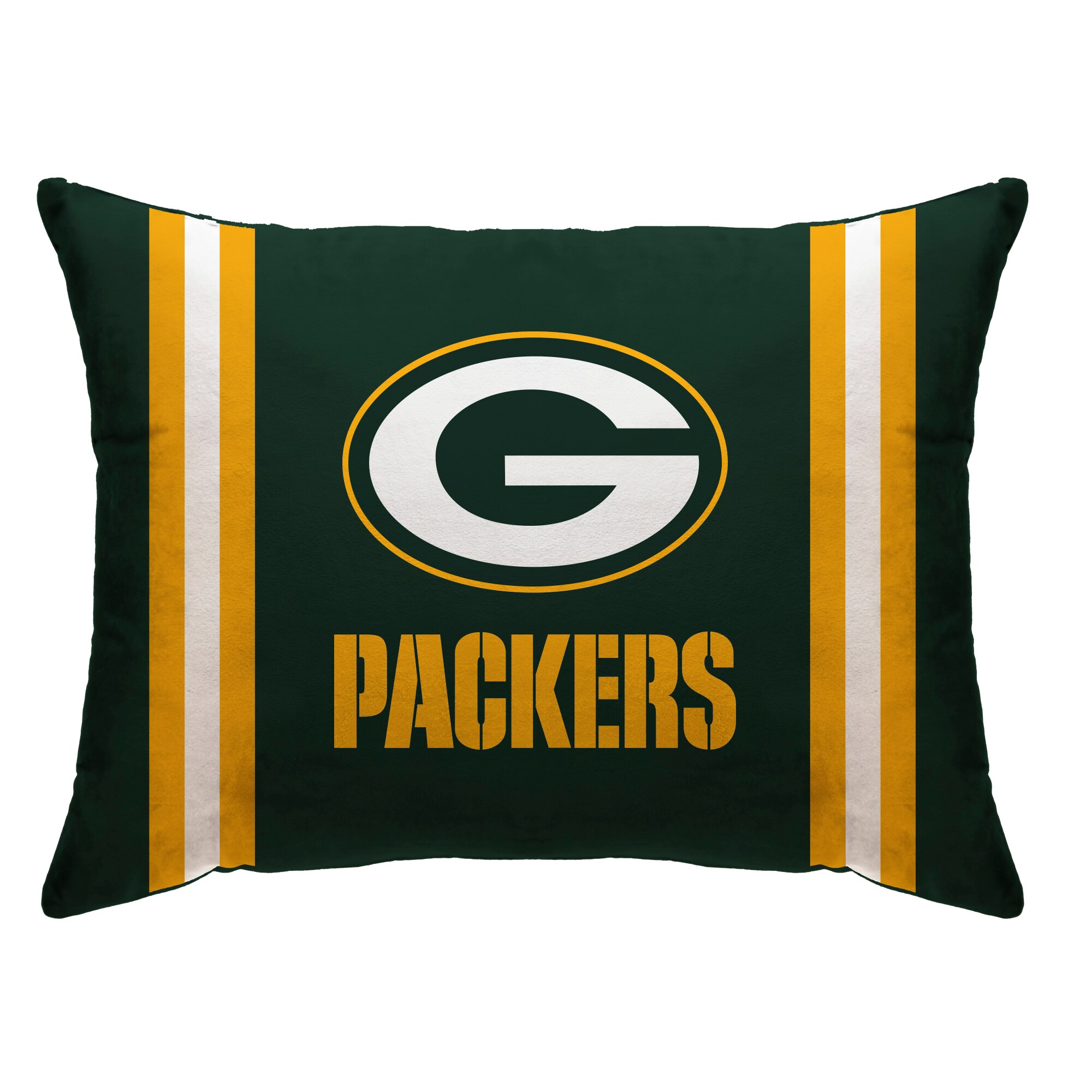 """Green Bay Packers 20"""" x 26"""" Plush Bed Pillow - Green"""