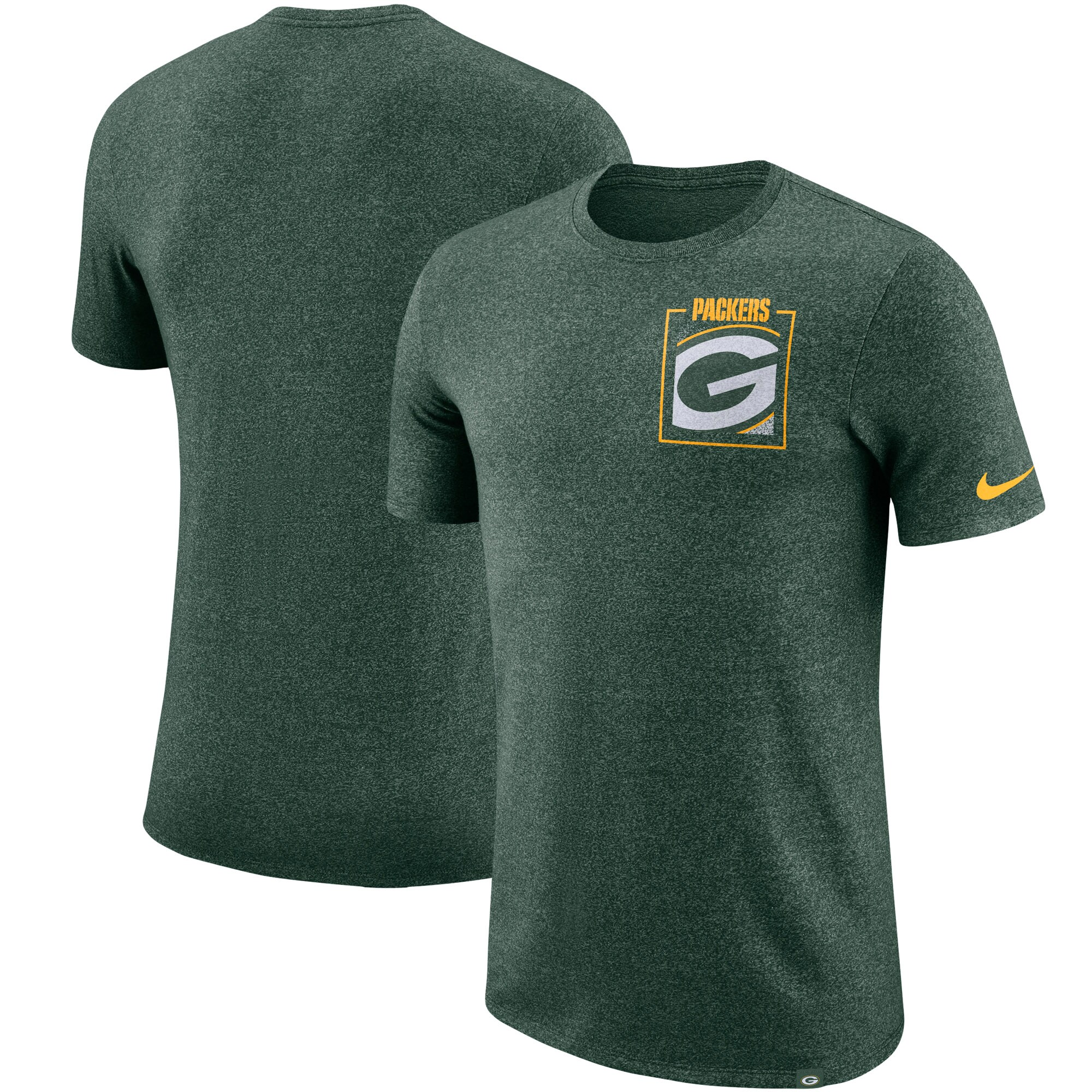 Green Bay Packers Nike Fan Gear Marled Stadium T-Shirt - Heathered Green