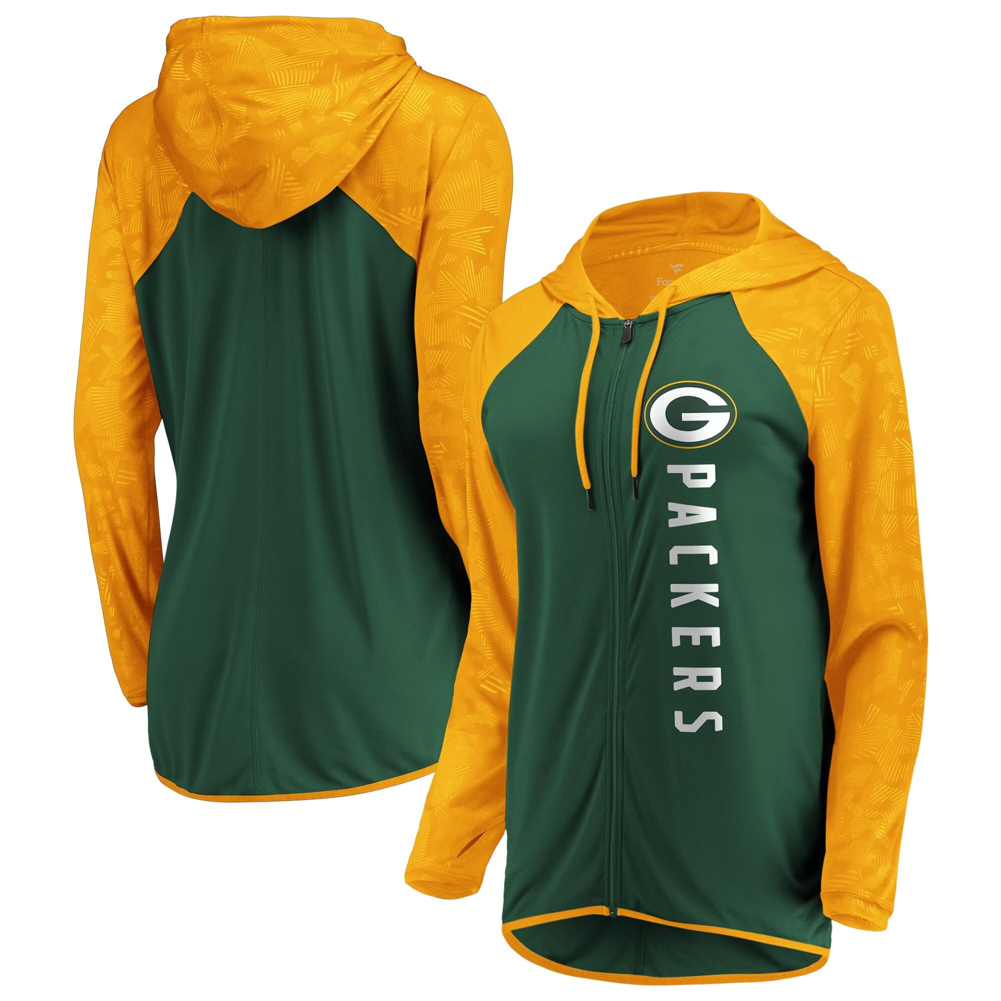 Green Bay Packers Fanatics Branded Women's Forever Fan Full-Zip Hoodie - Green