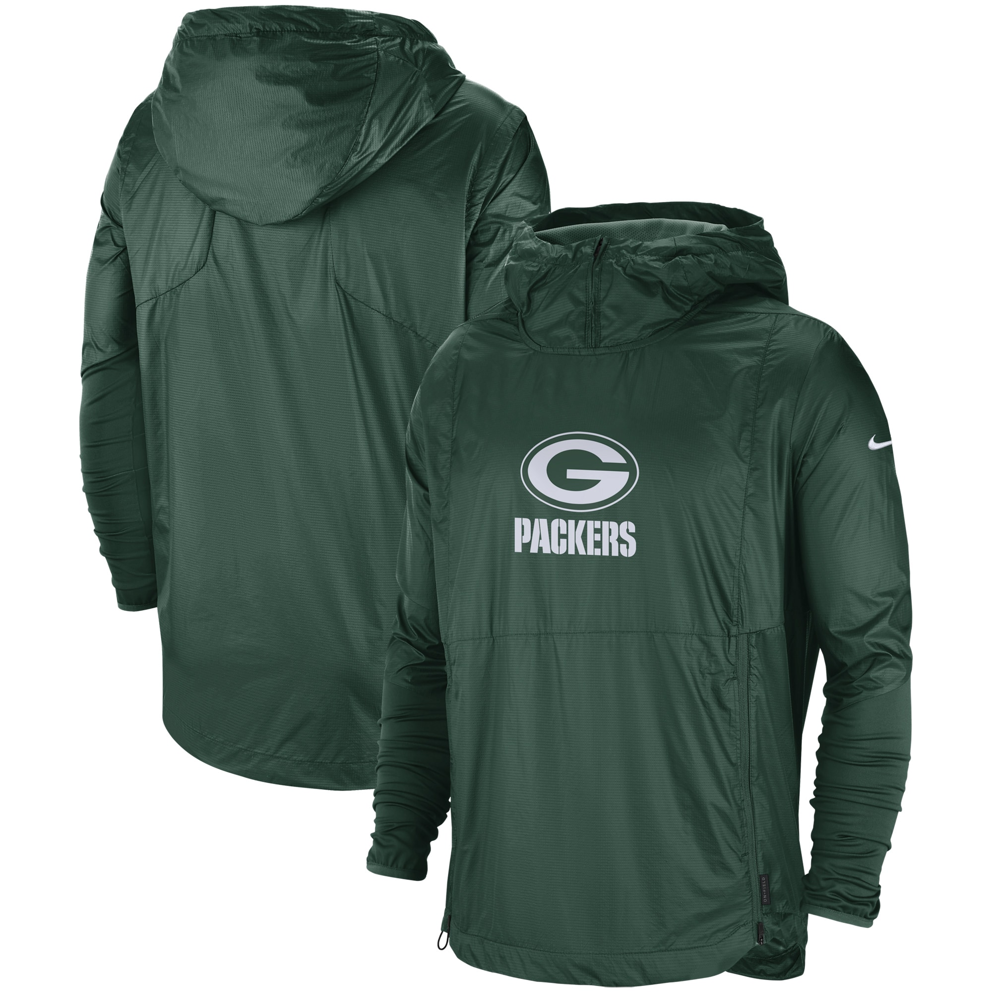 Green Bay Packers Nike Sideline Repel Player Pullover Jacket - Green