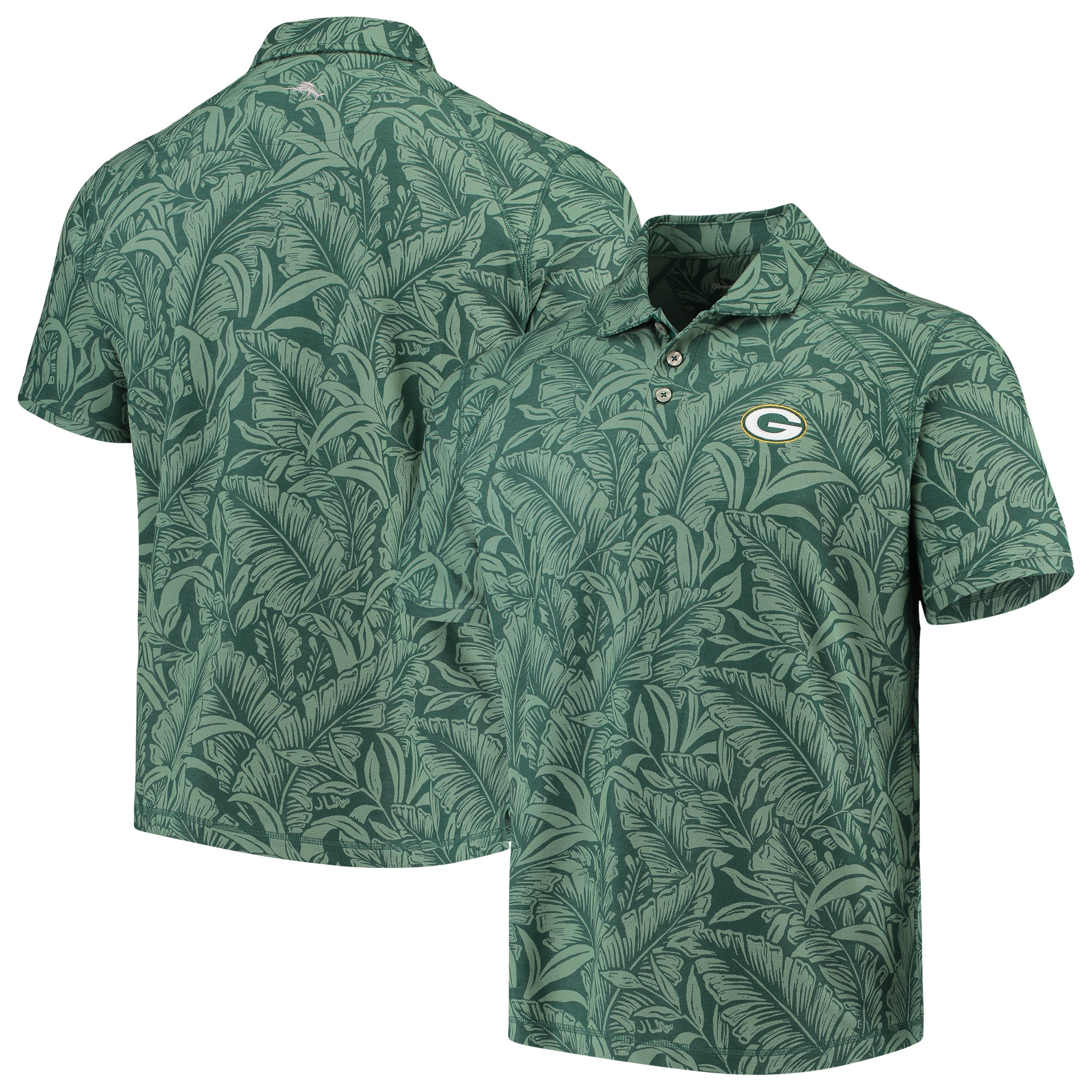 Green Bay Packers Tommy Bahama Sport Leafbacker Polo - Green
