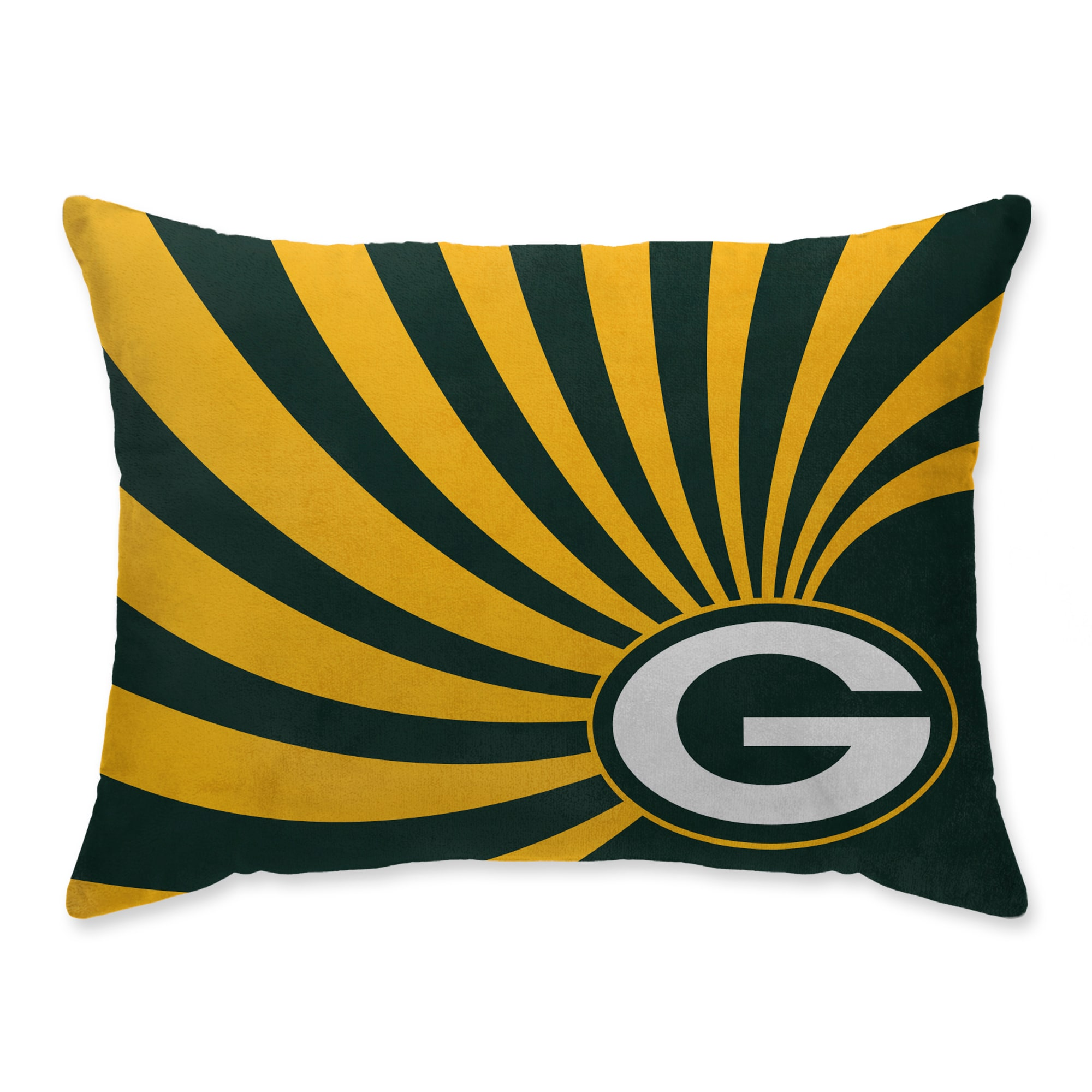 Green Bay Packers Super Plush Mink Wave Bed Pillow - Green