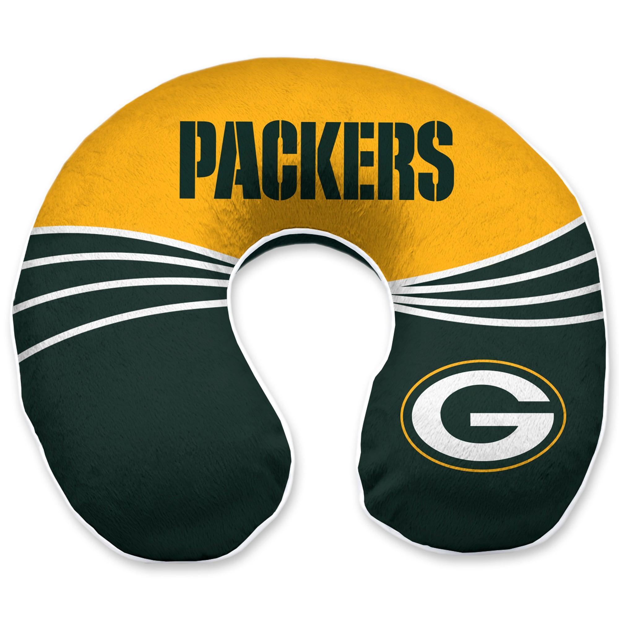 Green Bay Packers Wave Memory Foam U-Neck Travel Pillow - Green
