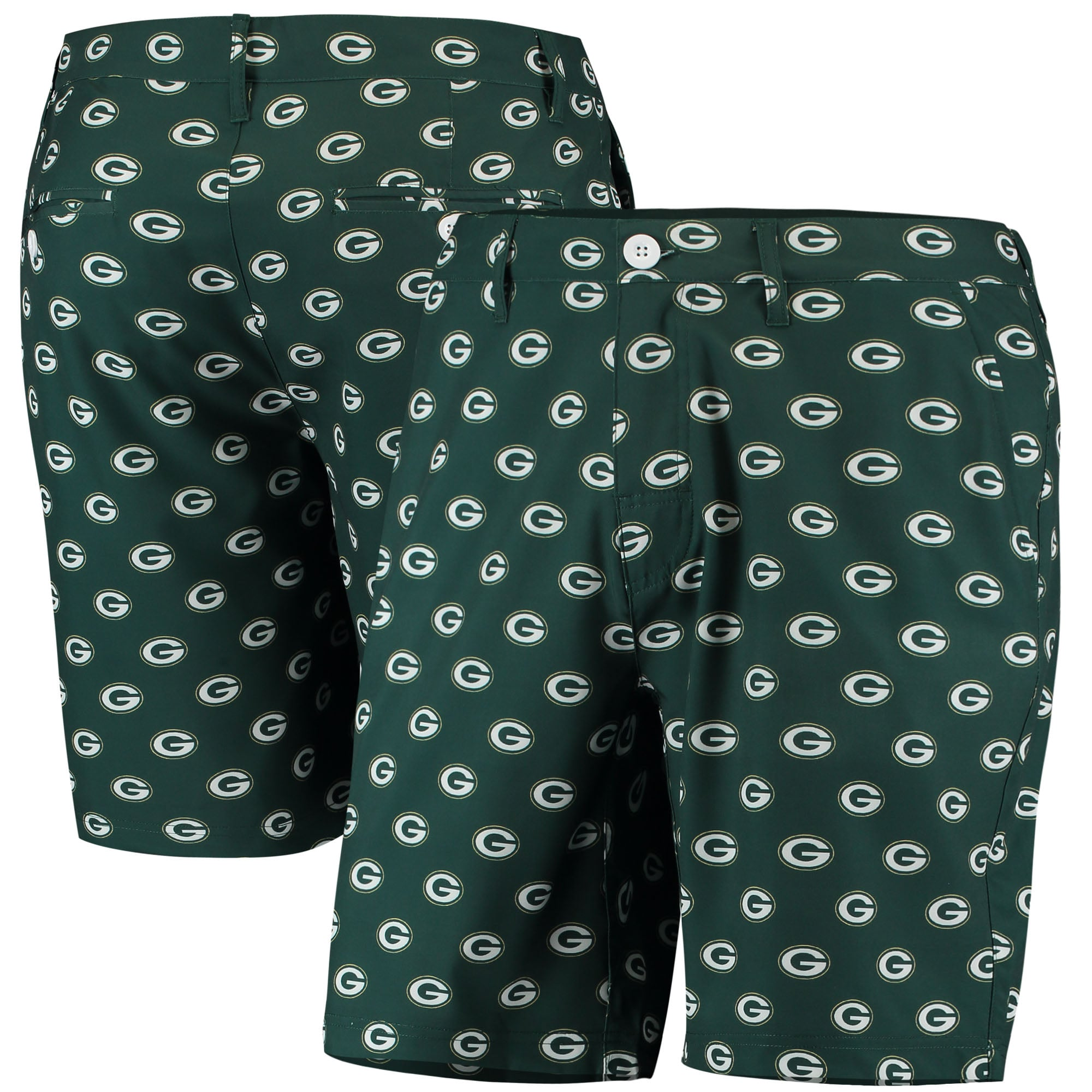 Green Bay Packers Repeat Logo Hybrid Shorts - Green