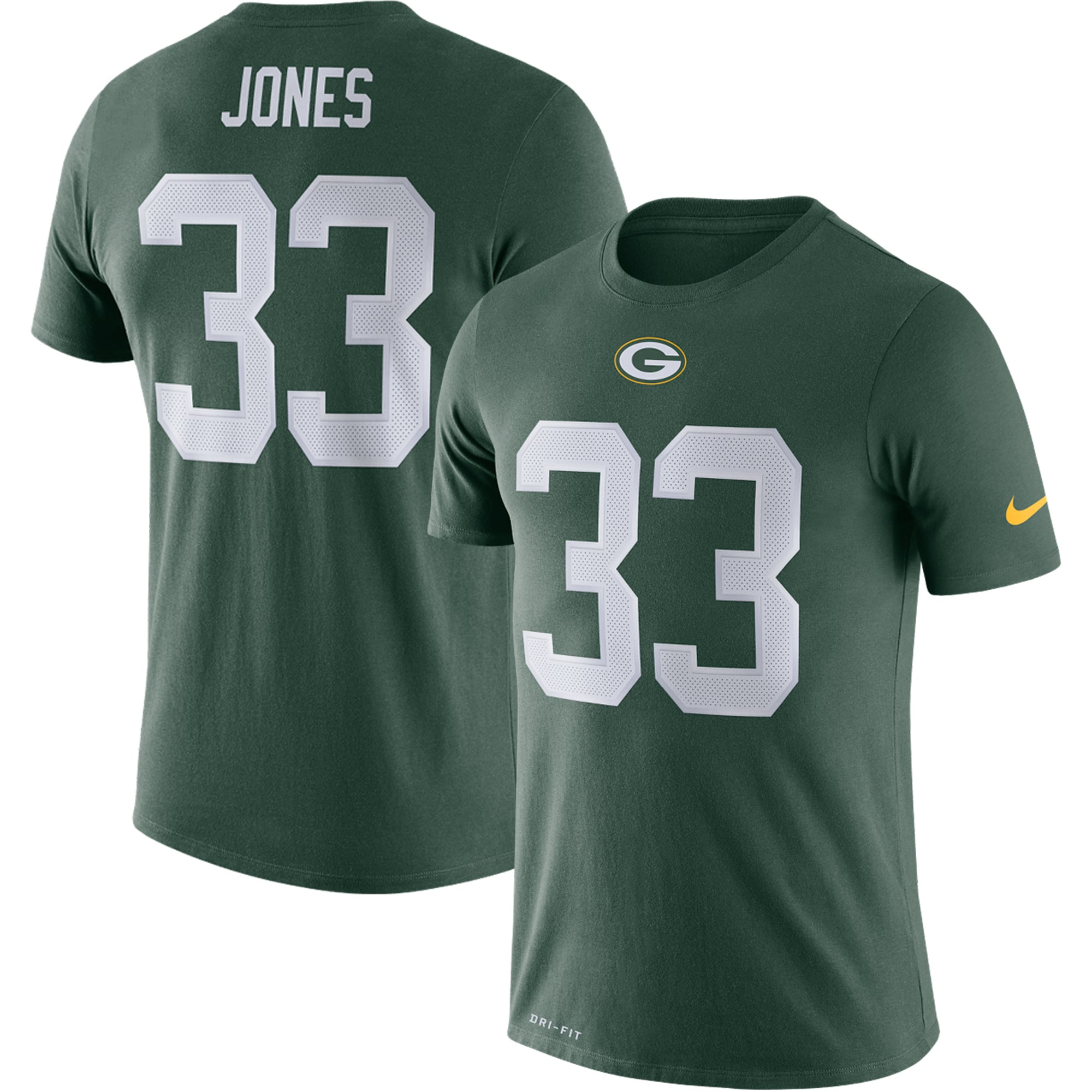 Aaron Jones Green Bay Packers Nike Player Pride 3.0 Name & Number Performance T-Shirt - Green