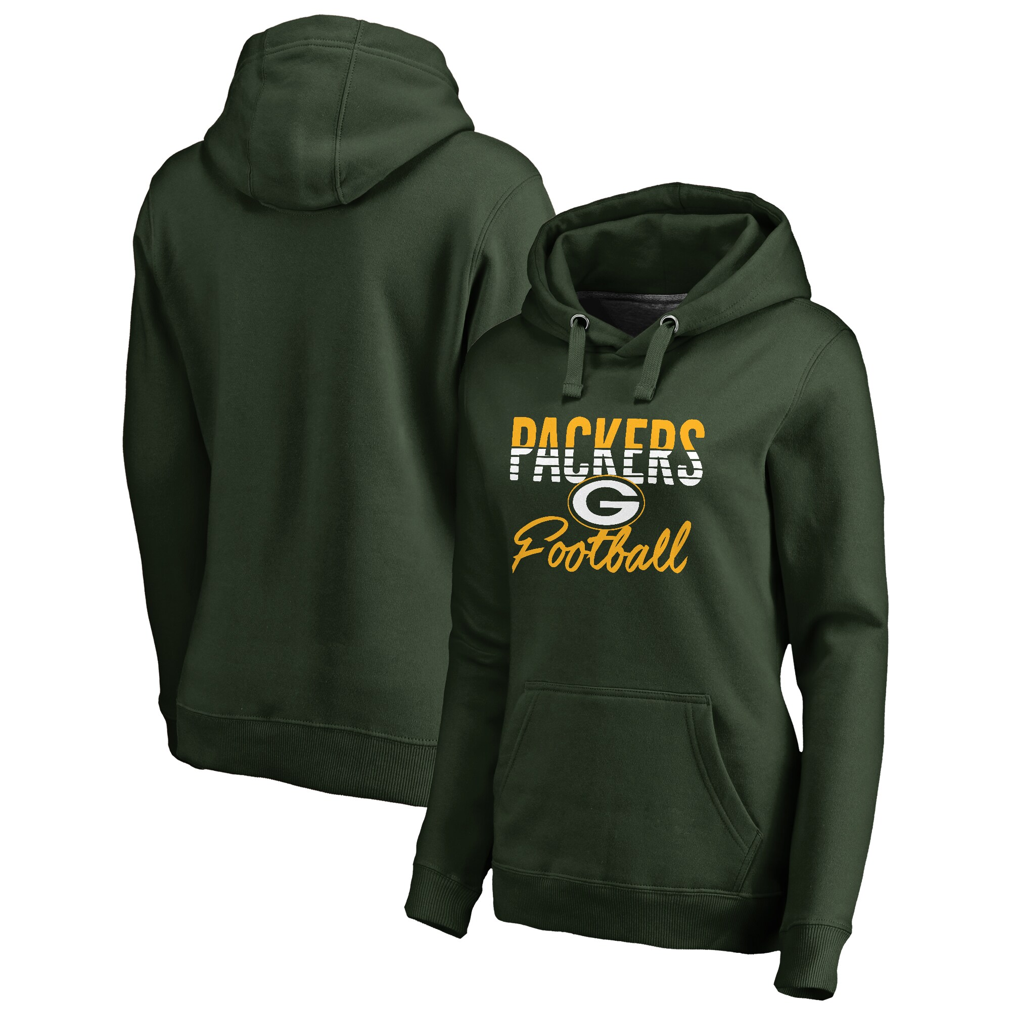 Green Bay Packers NFL Pro Line by Fanatics Branded Women's Free Line Pullover Hoodie - Green