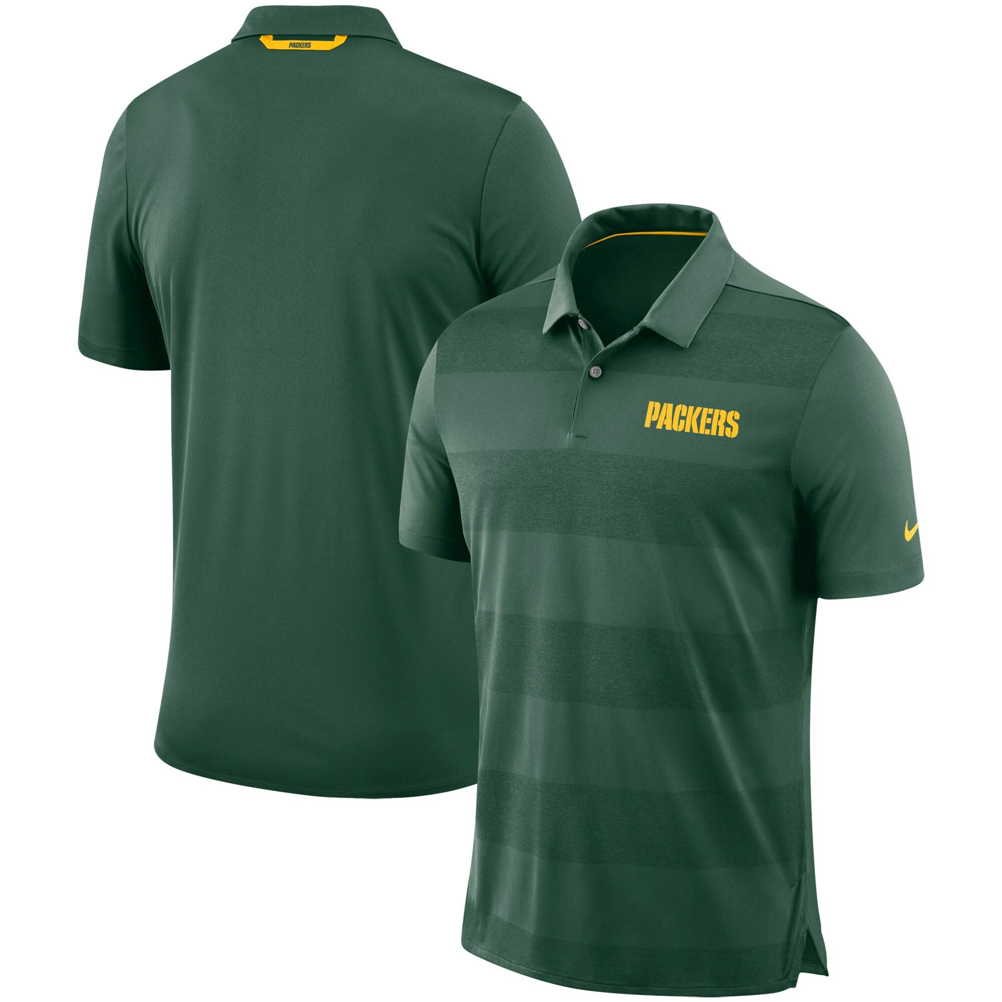 Green Bay Packers Nike Sideline Early Season Wordmark Performance Polo - Green
