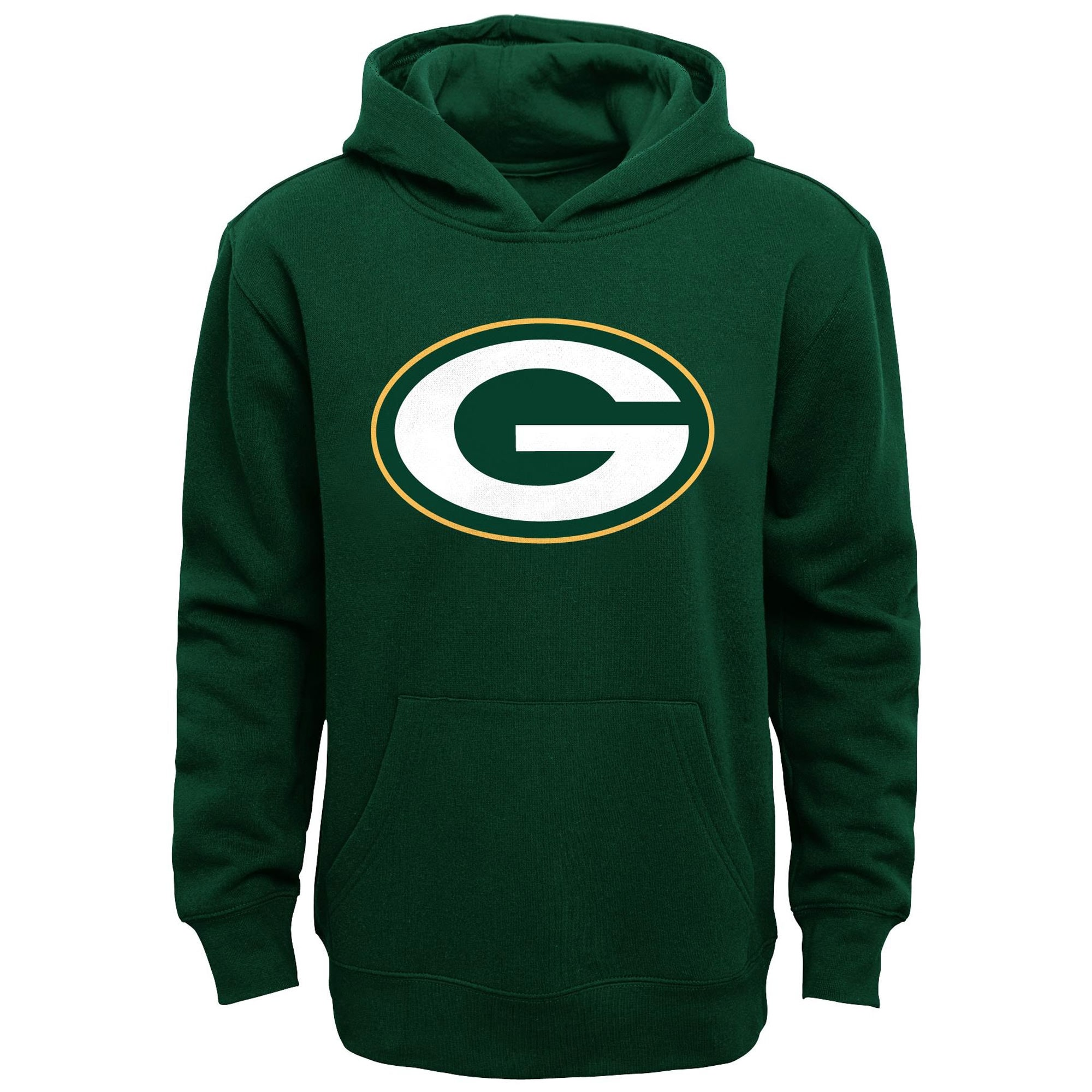 Green Bay Packers Youth Primary Logo Fleece Hoodie Sweatshirt - Green