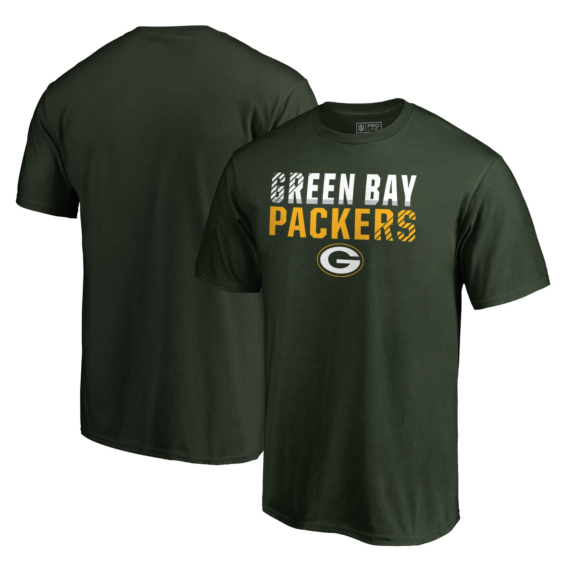 Green Bay Packers NFL Pro Line by Fanatics Branded Iconic Collection Fade Out Big and Tall T-Shirt - Green