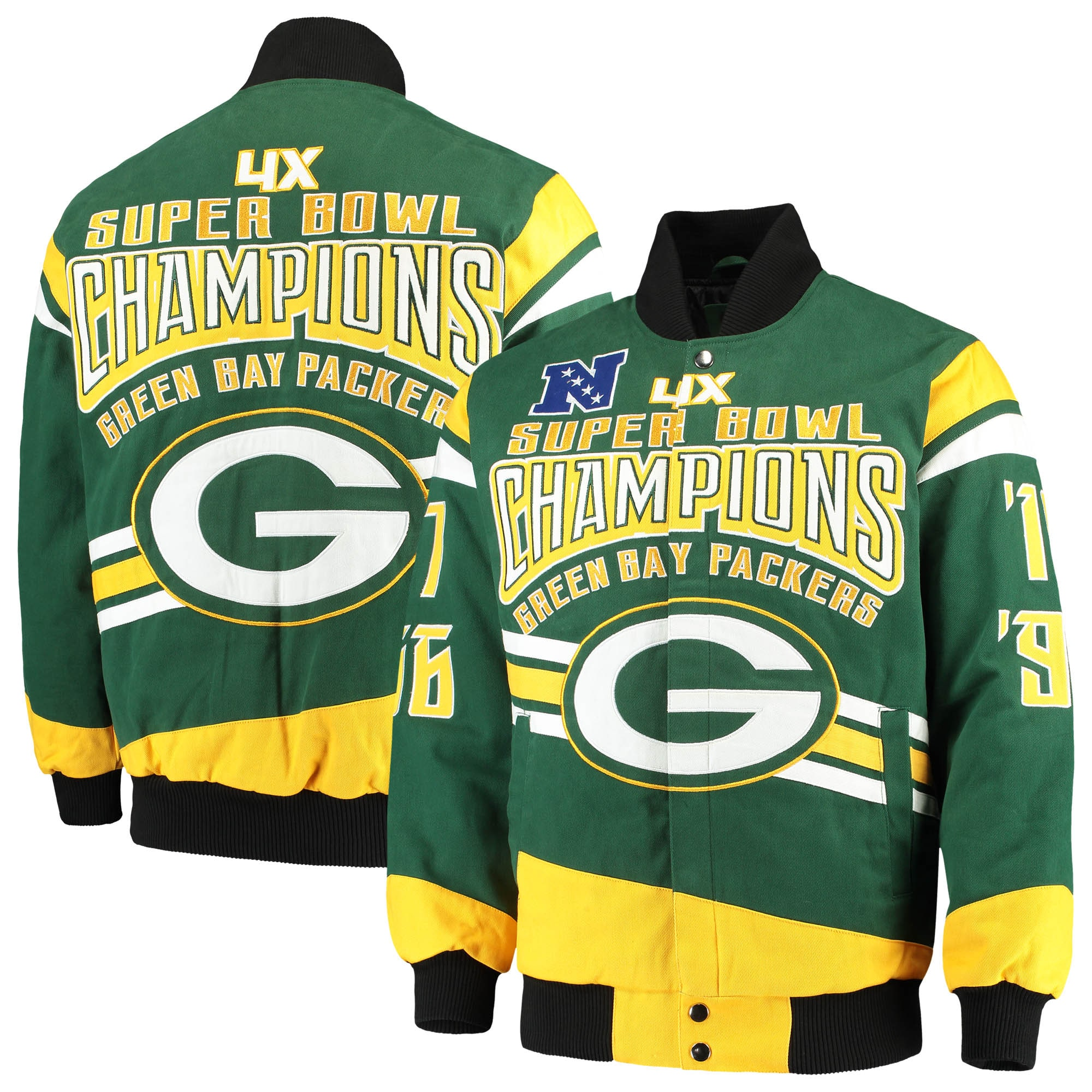 Green Bay Packers G-III Extreme Gladiator Commemorative Cotton Twill Jacket - Green