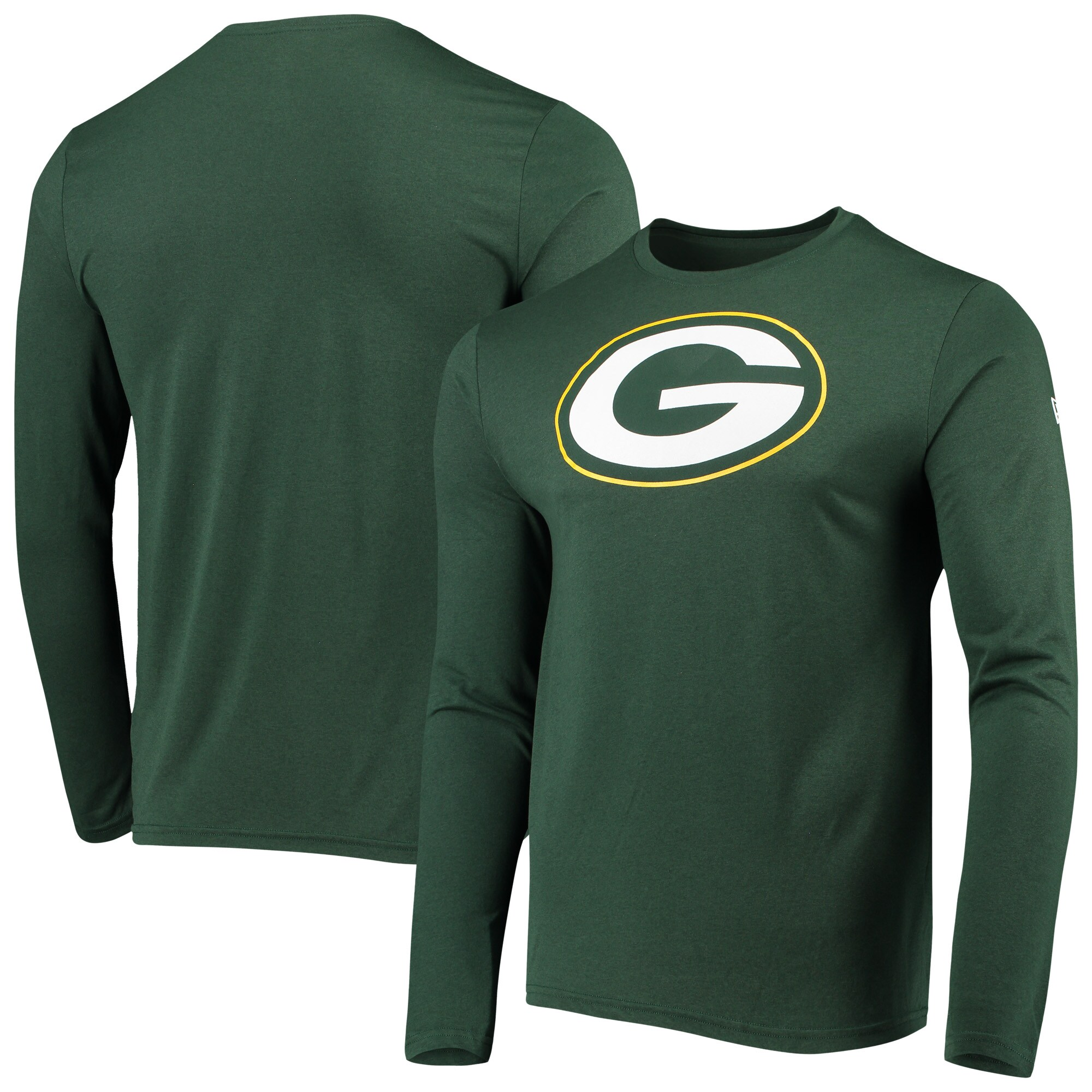 Green Bay Packers New Era Combine Stadium Logo Long Sleeve T-Shirt - Green