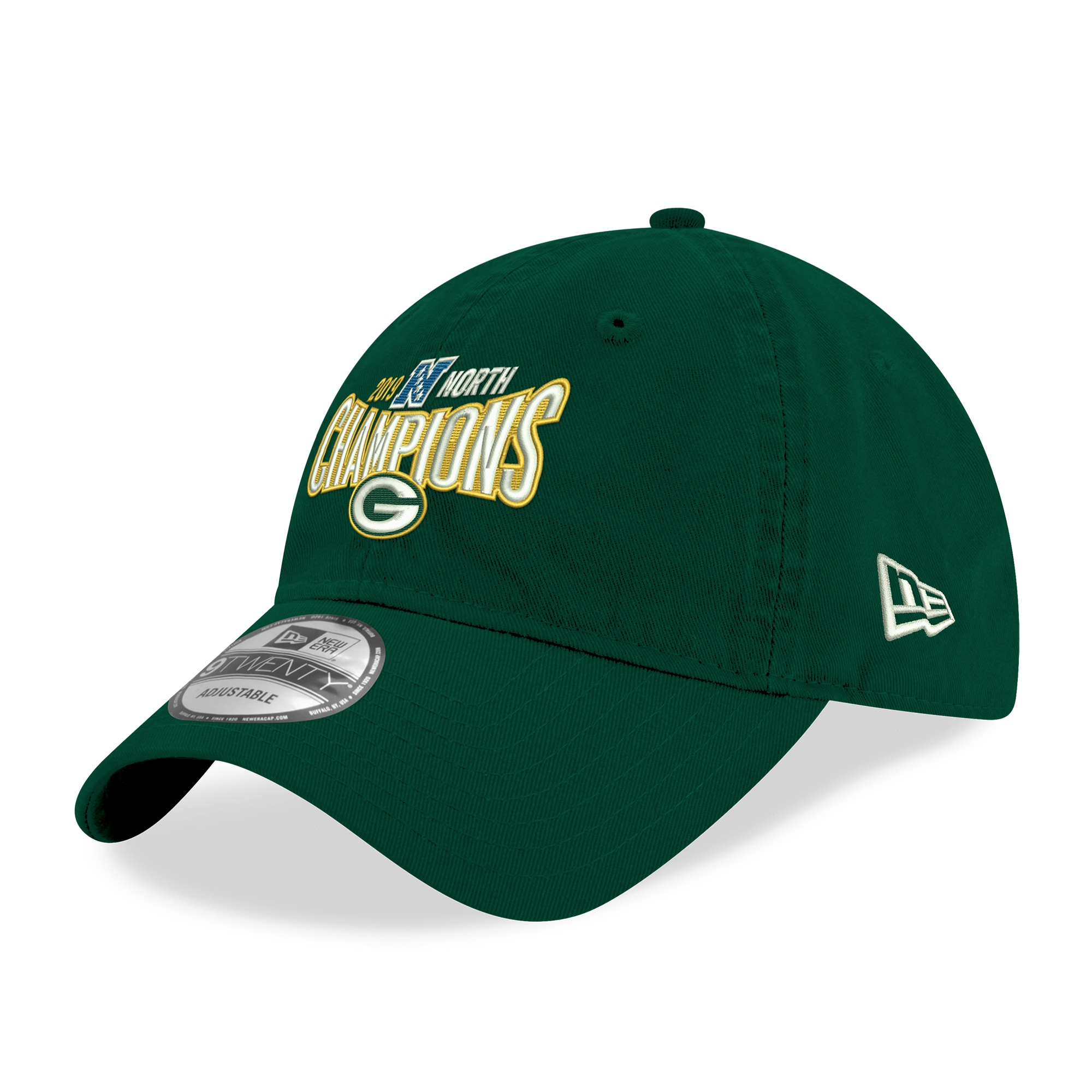 Green Bay Packers New Era 2019 NFC North Division Champions 9TWENTY Adjustable Hat - Green