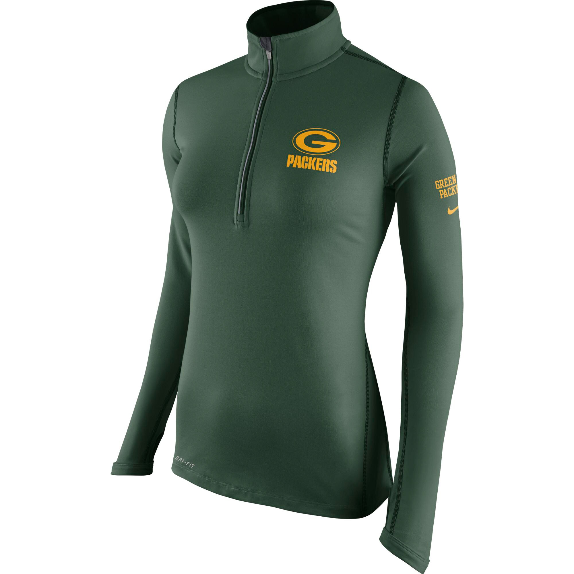 Green Bay Packers Nike Women's Tailgate Element Half-Zip Performance Jacket - Green