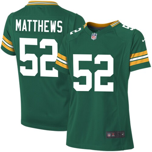 Clay Matthews Green Bay Packers Nike Girls Youth Replica Game Jersey - Green