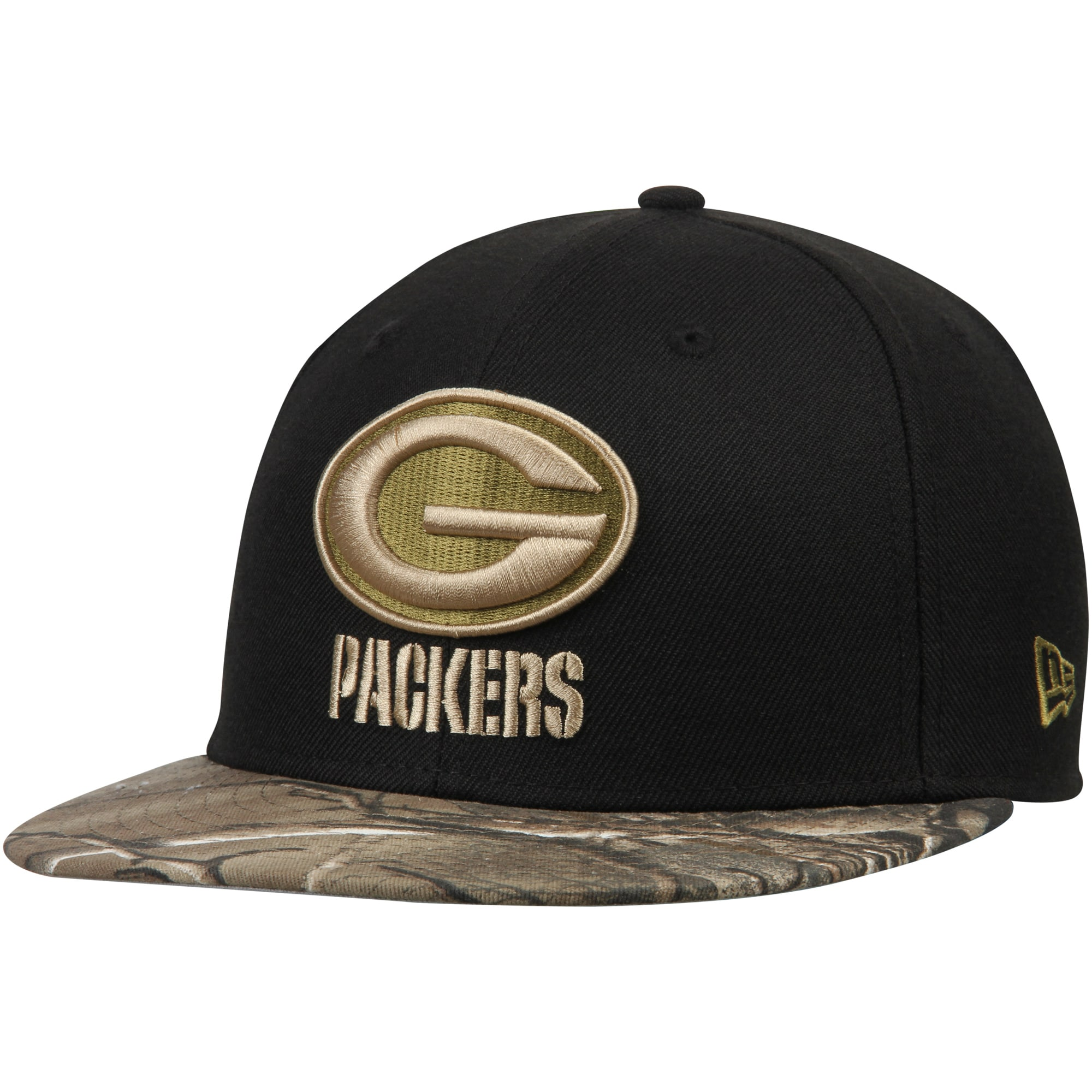 Green Bay Packers New Era Rambo 59FIFTY Fitted Hat - Black/Realtree Camo