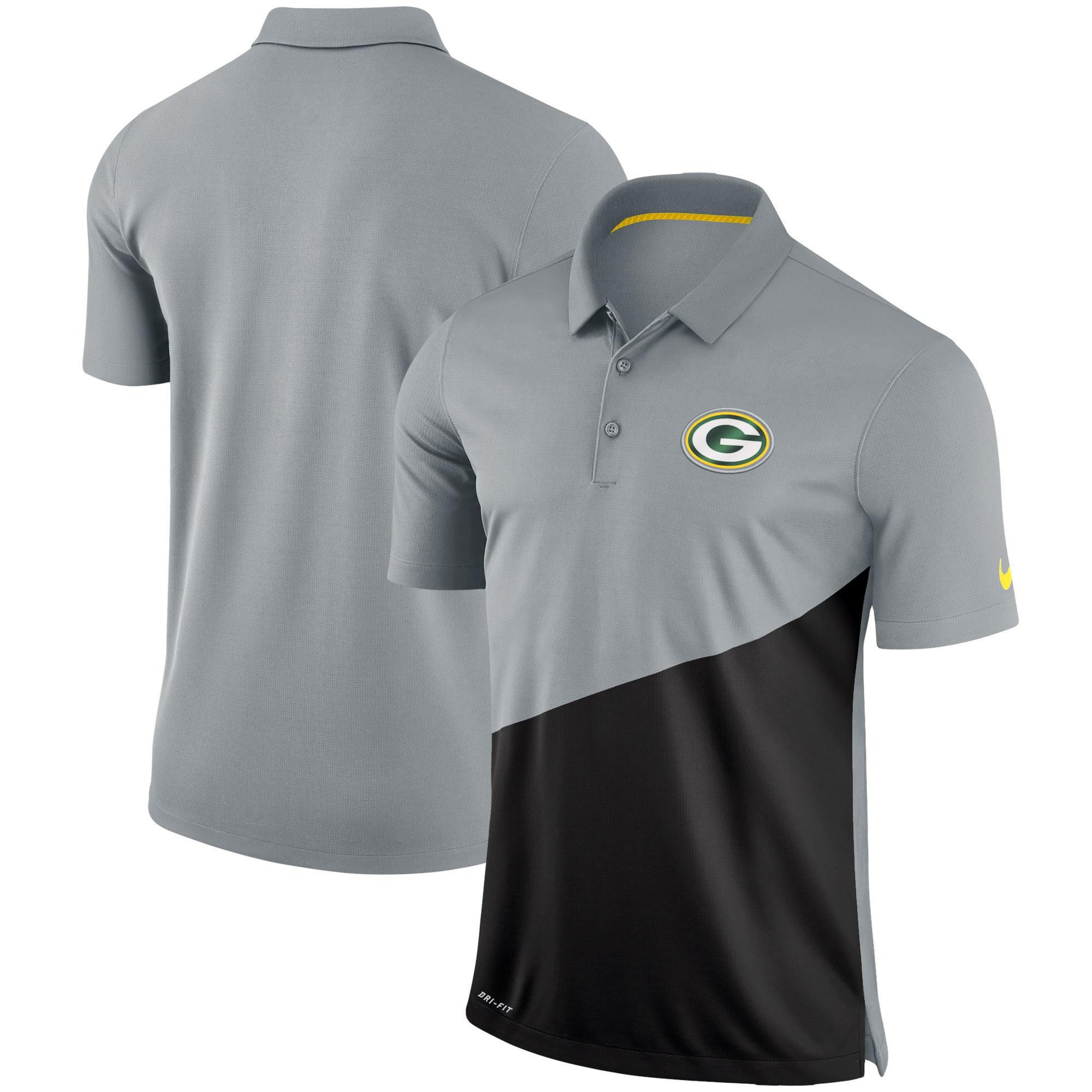 Green Bay Packers Nike Stadium Performance Polo - Gray