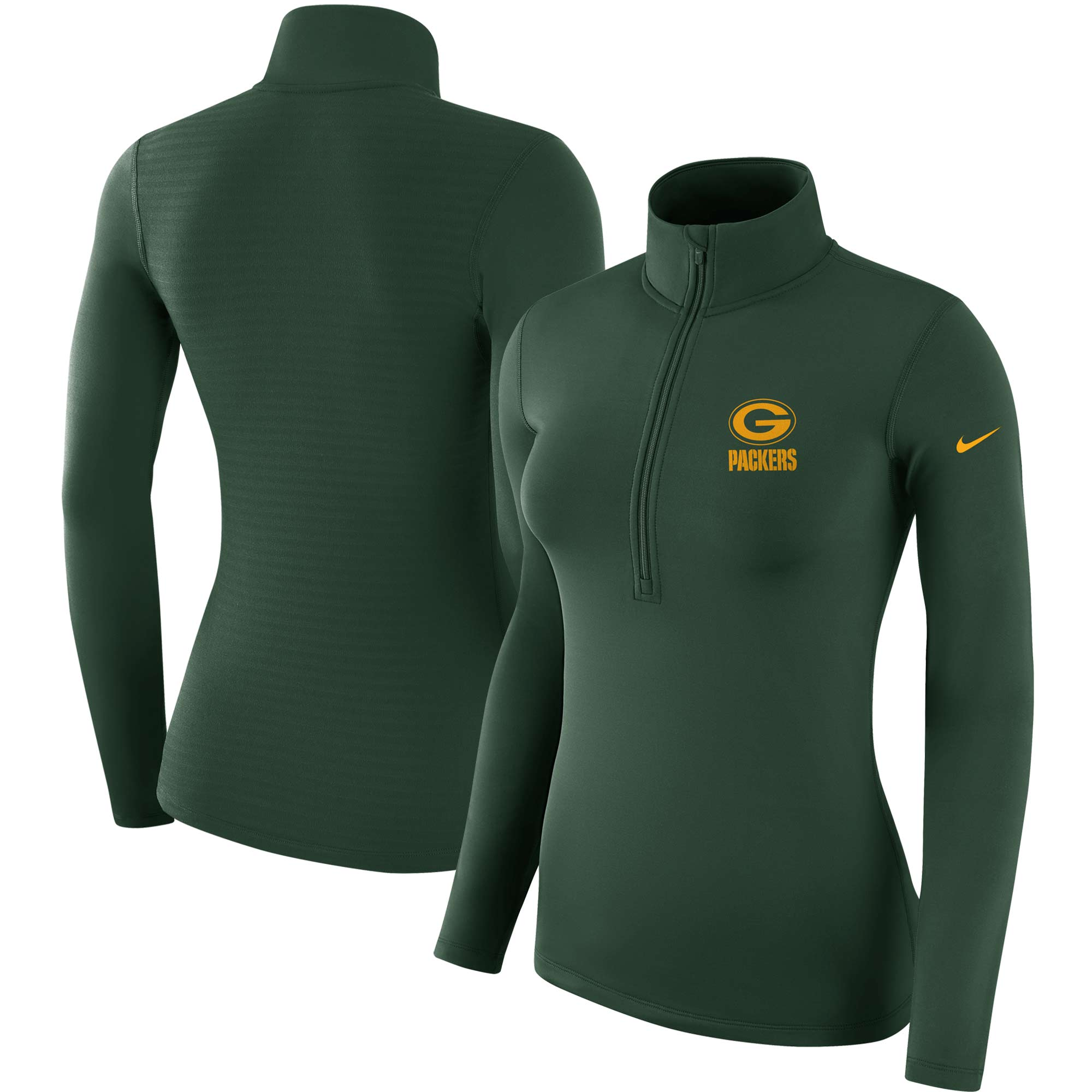 Green Bay Packers Nike Women's Team Logo Half-Zip Pullover Jacket - Green