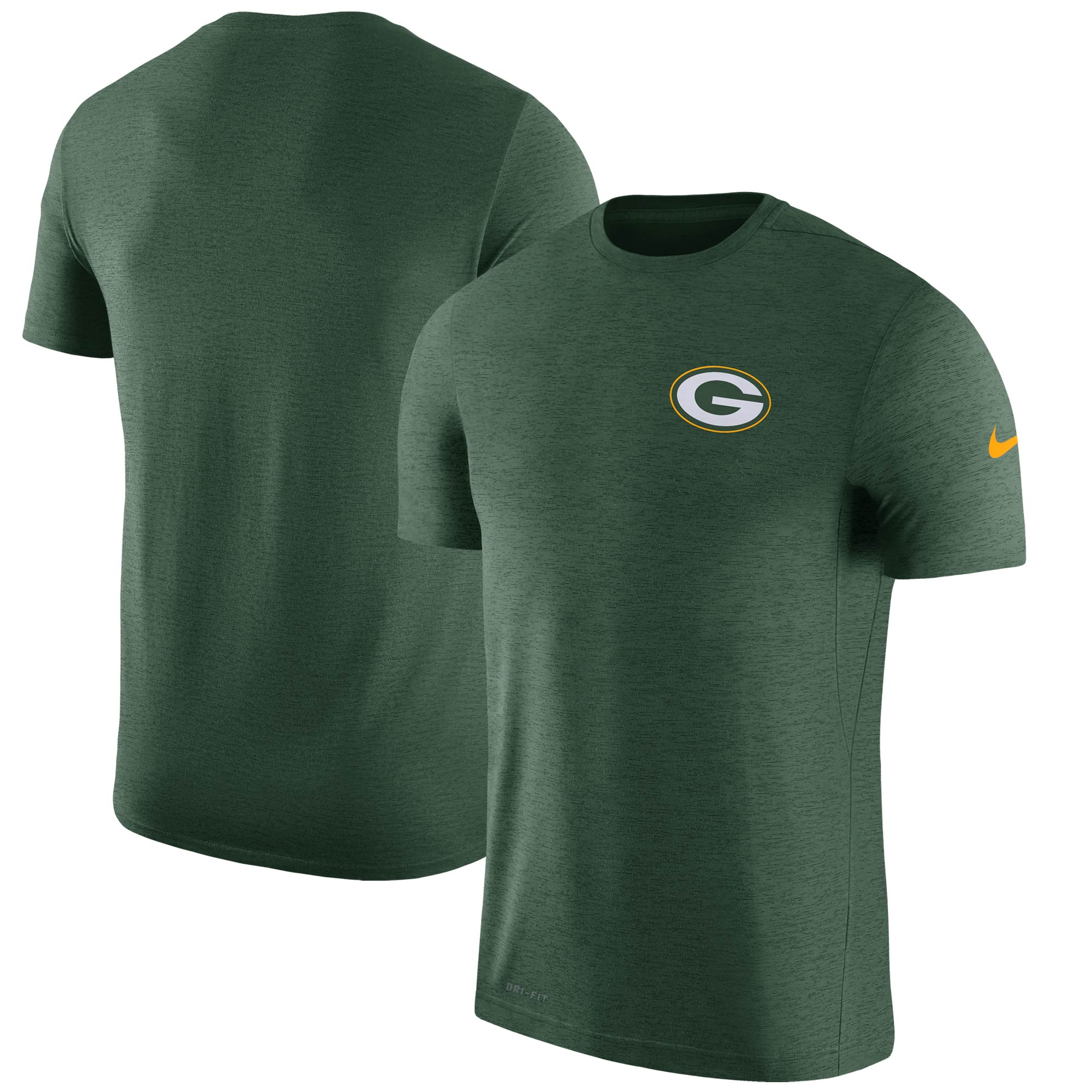 Green Bay Packers Nike Sideline Coaches Performance T-Shirt - Green