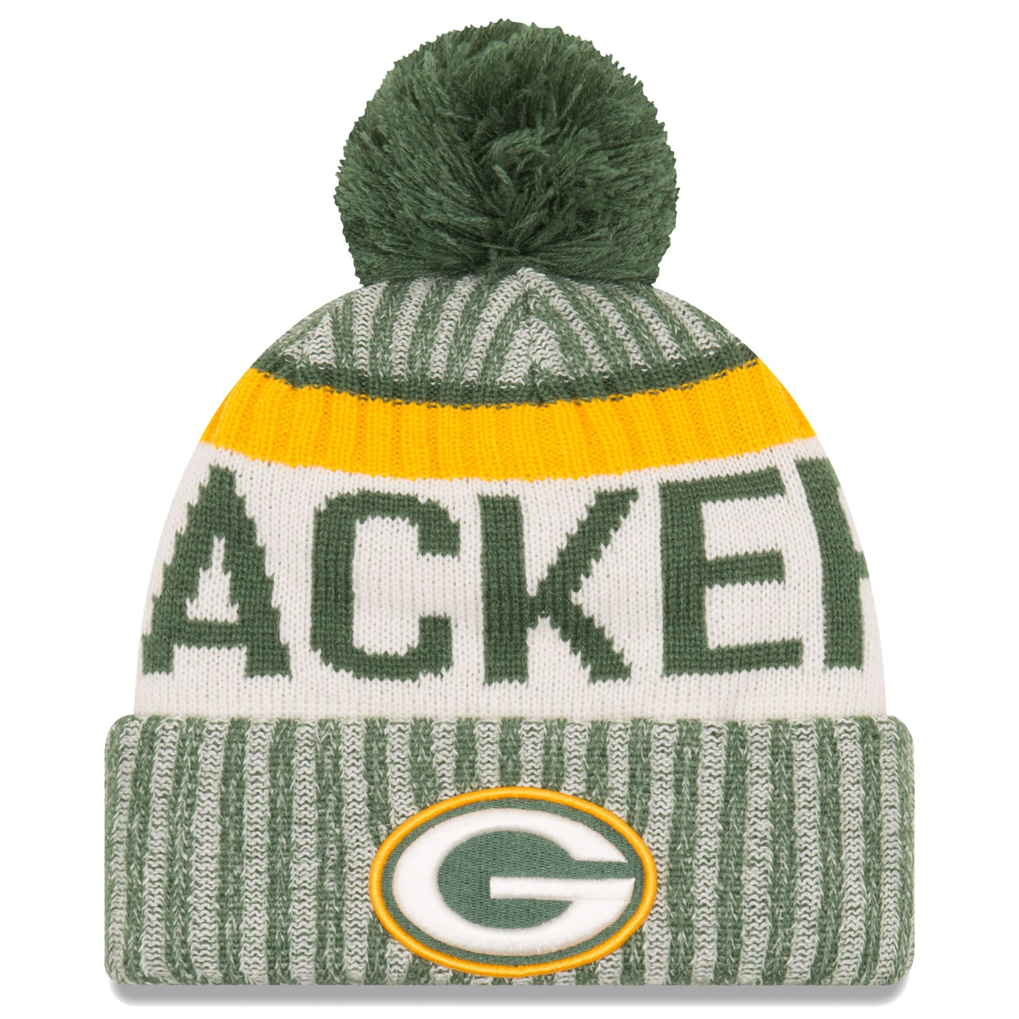 Green Bay Packers New Era 2017 Sideline Official Sport Knit Hat - Green
