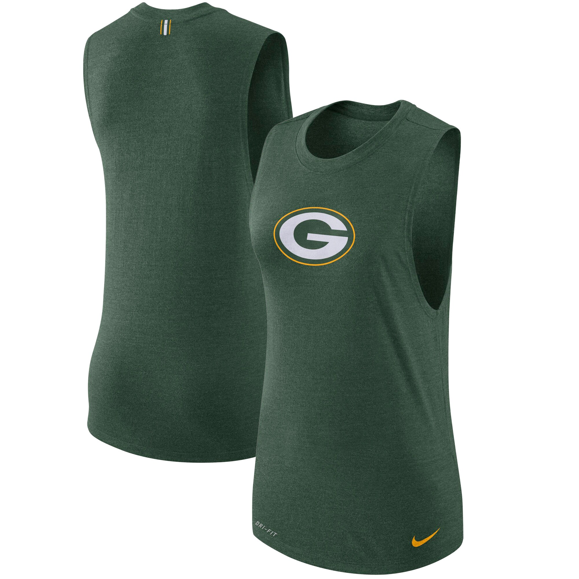 Green Bay Packers Nike Women's Logo Muscle Performance Tank Top - Green