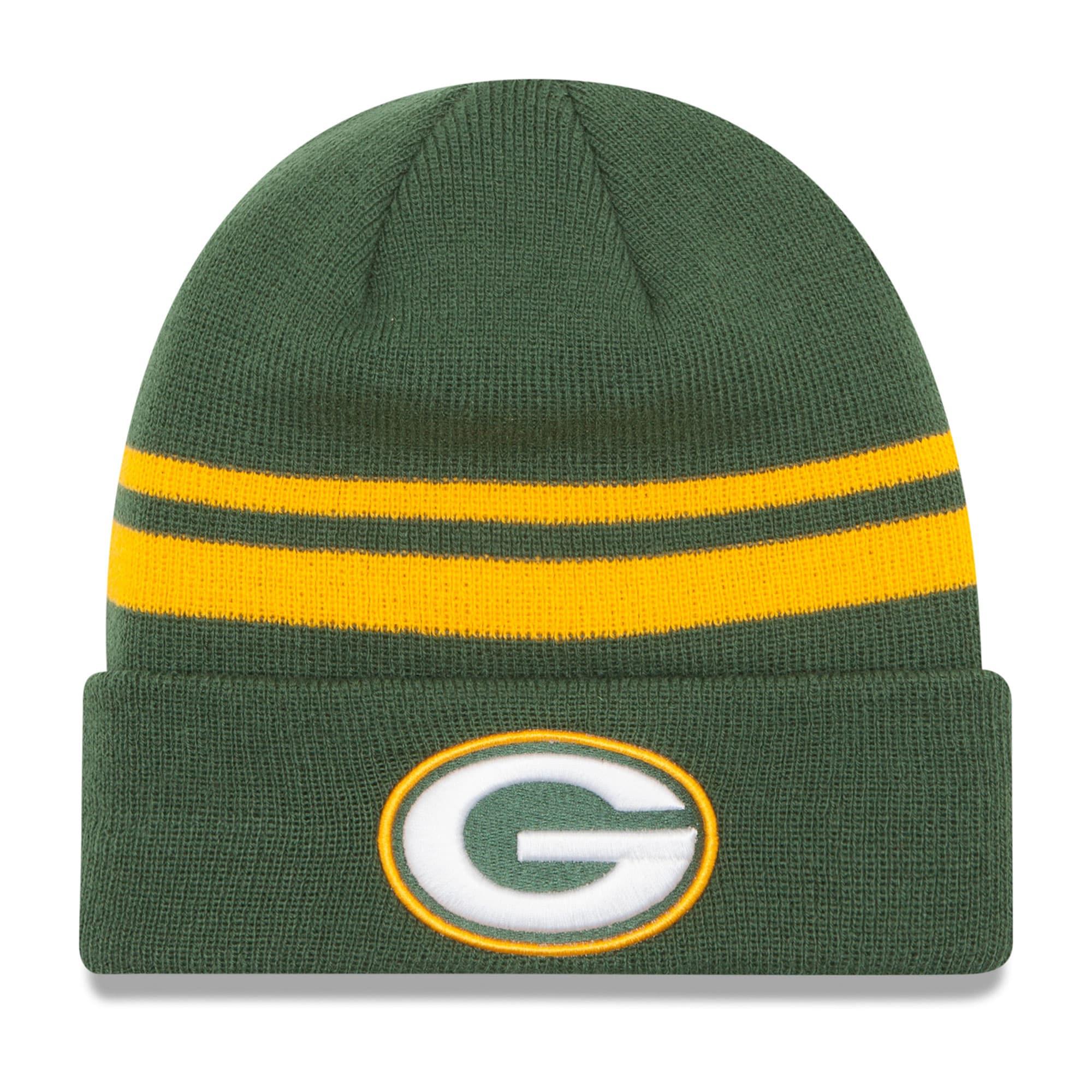 Green Bay Packers New Era Team Logo Cuffed Knit Hat - Green