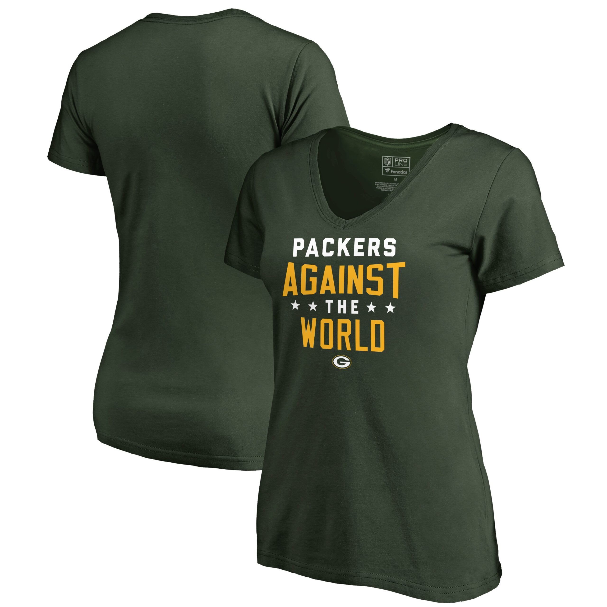 Green Bay Packers NFL Pro Line by Fanatics Branded Women's Against The World V-Neck T-Shirt - Green