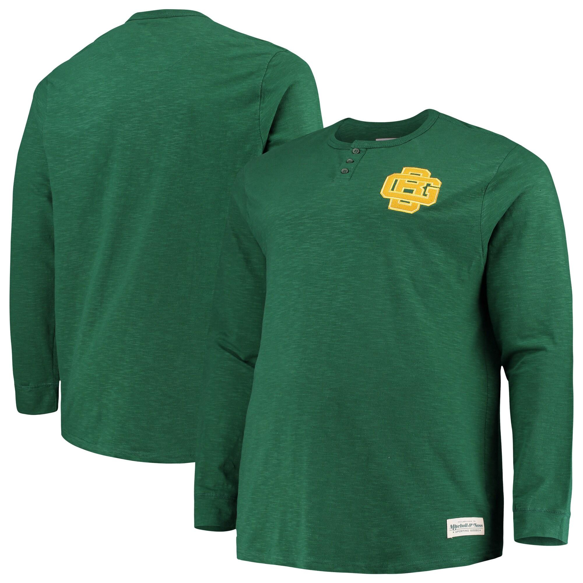 Green Bay Packers Mitchell & Ness Big & Tall First Round Pick Long Sleeve Henley T-Shirt - Green