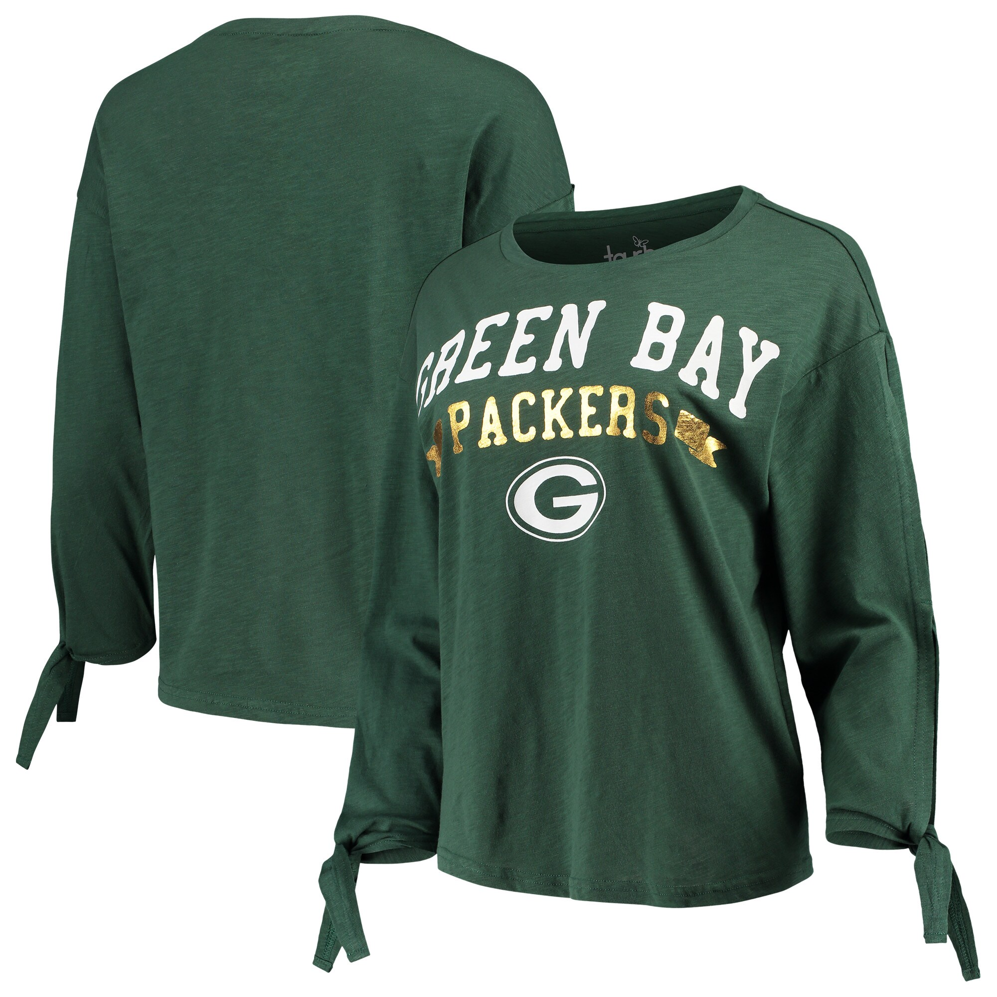 Green Bay Packers Touch by Alyssa Milano Women's On The Fly Long Sleeve T-Shirt - Green