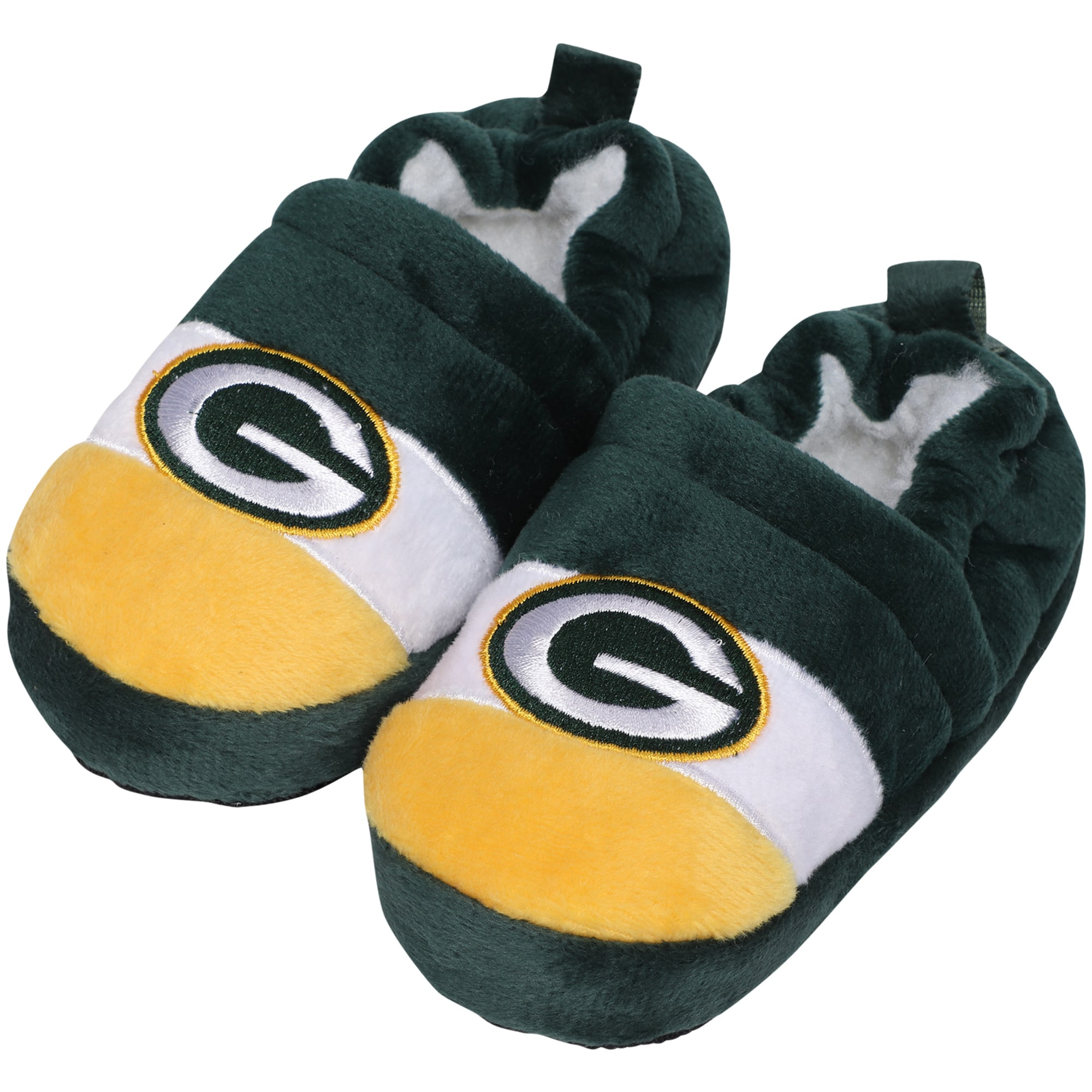 Green Bay Packers Toddler Color Block Close Back Slippers