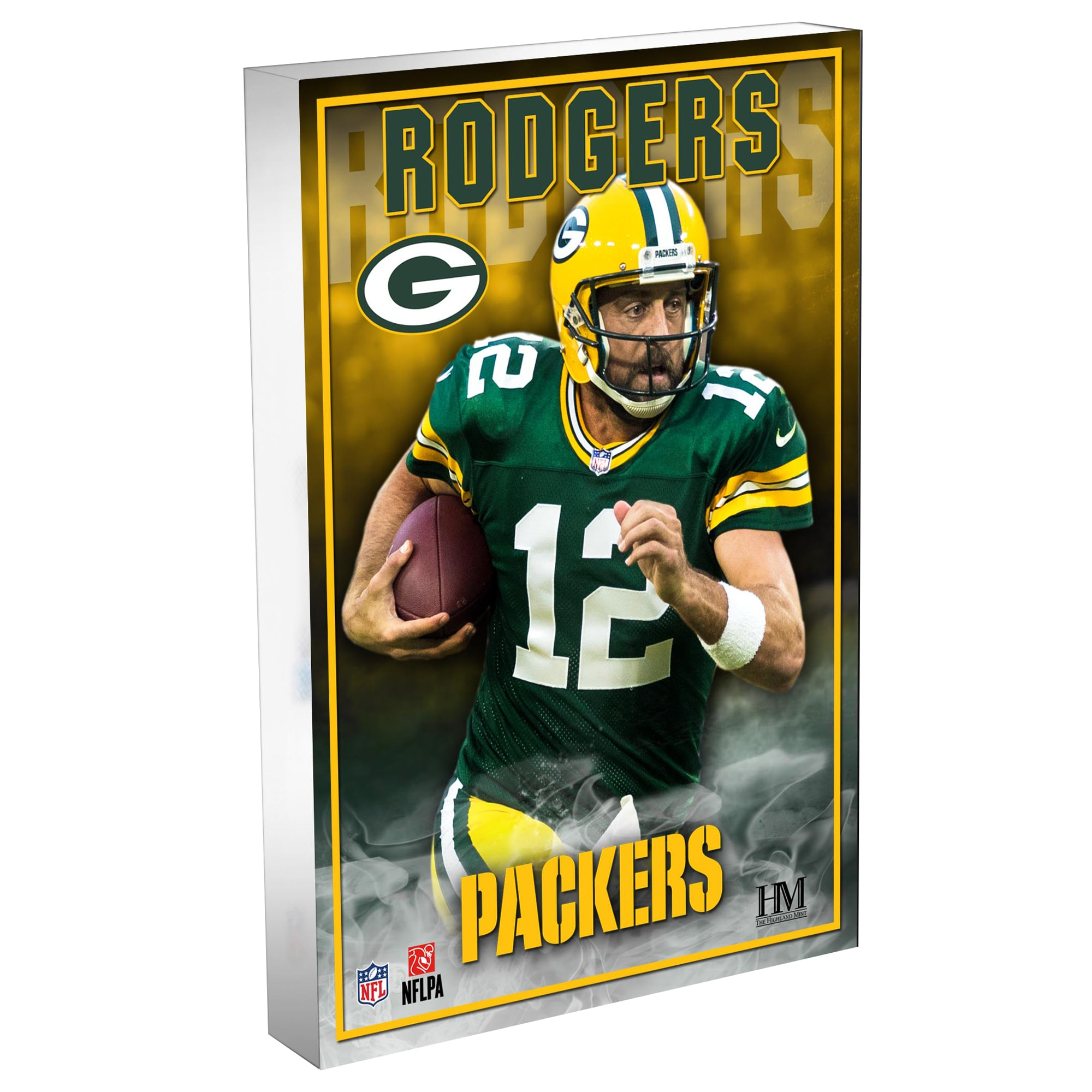 Aaron Rodgers Green Bay Packers Highland Mint 4'' x 6'' 3D Acrylic Blockart