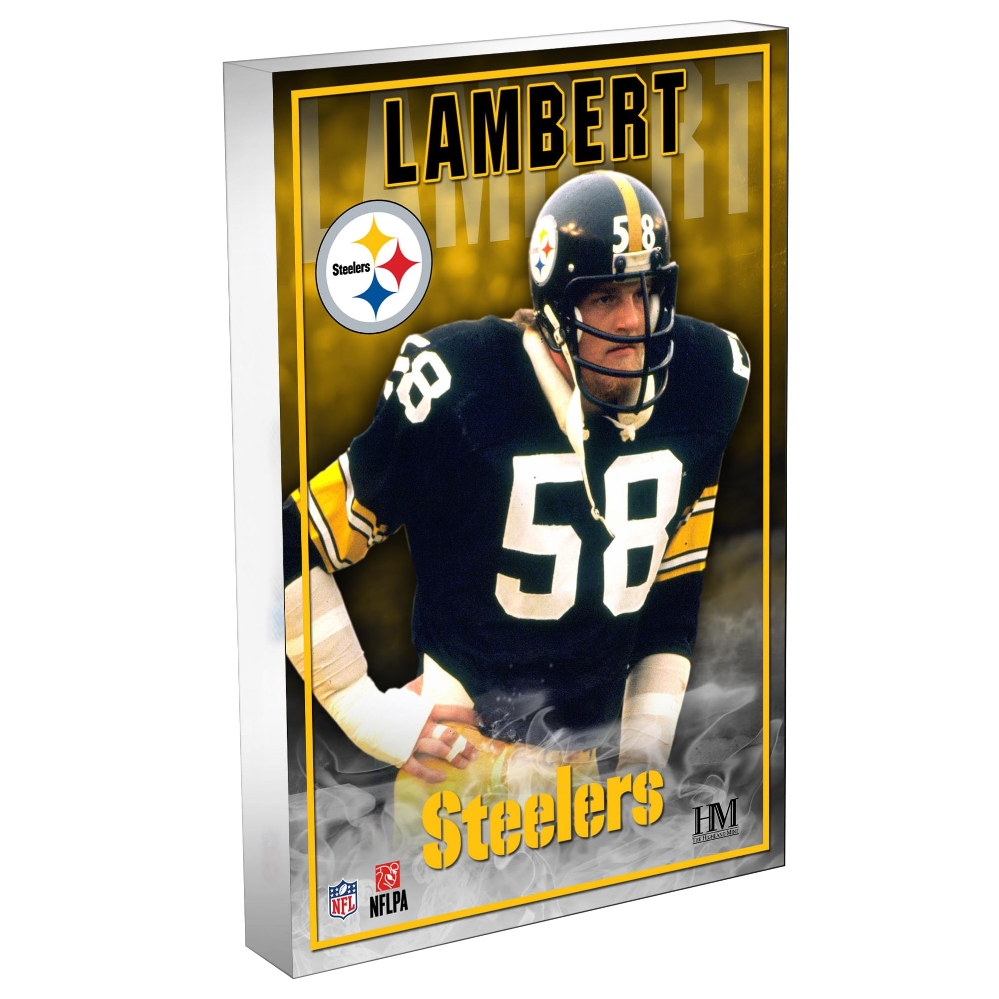 Jack Lambert Green Bay Packers Highland Mint 4'' x 6'' Legends 3D BlocKart