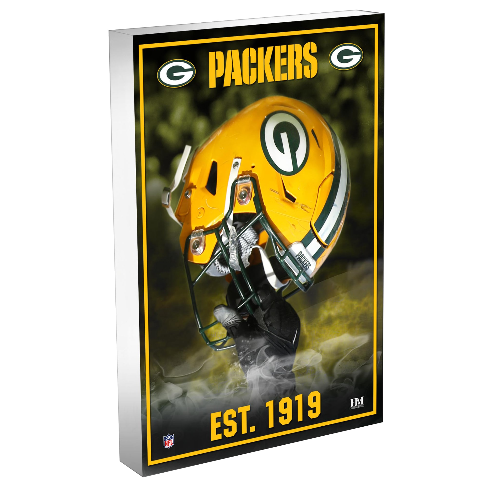 Green Bay Packers Highland Mint 4'' x 6'' Team Pride 3D Acrylic BlocKart