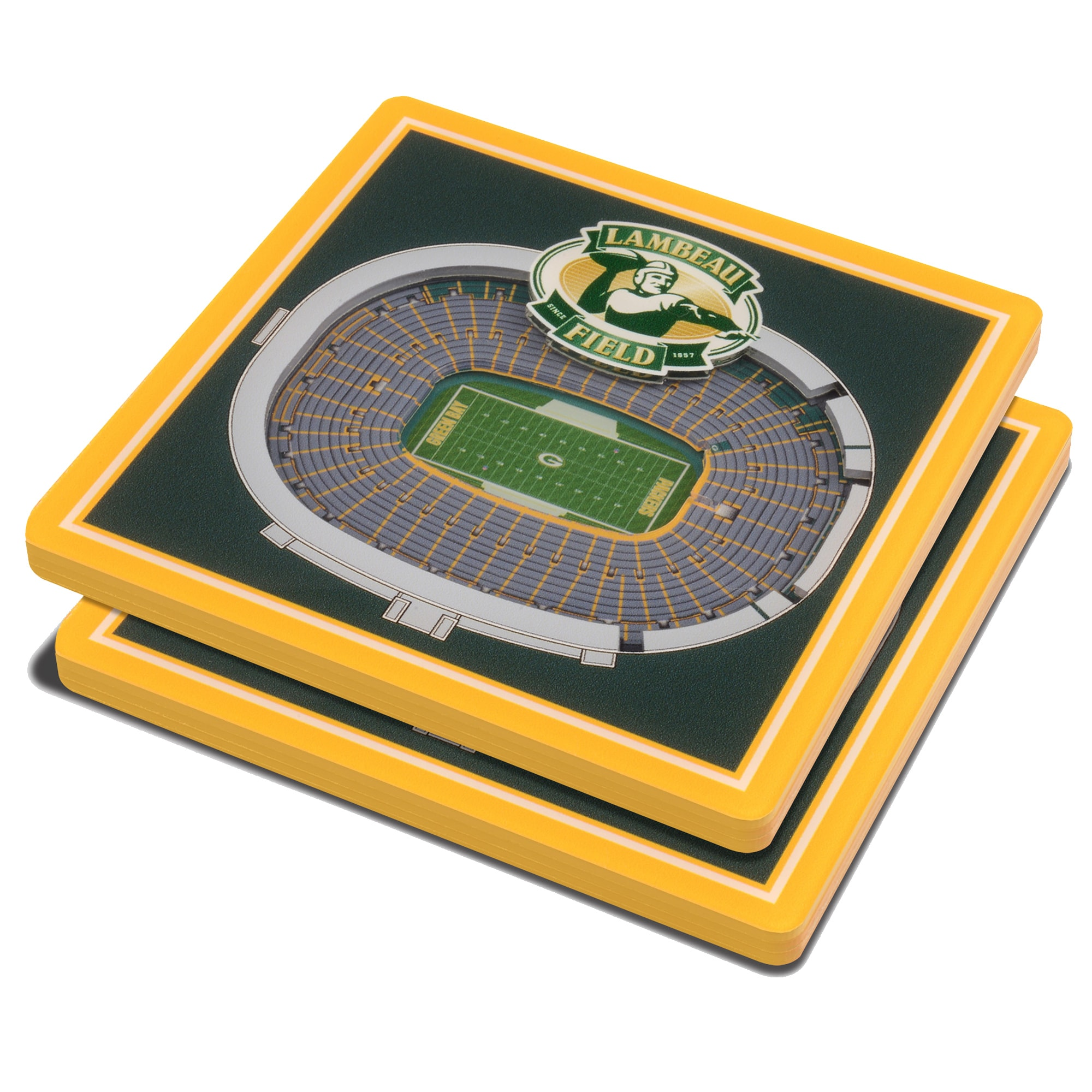 Green Bay Packers 3D StadiumViews Coasters - Green