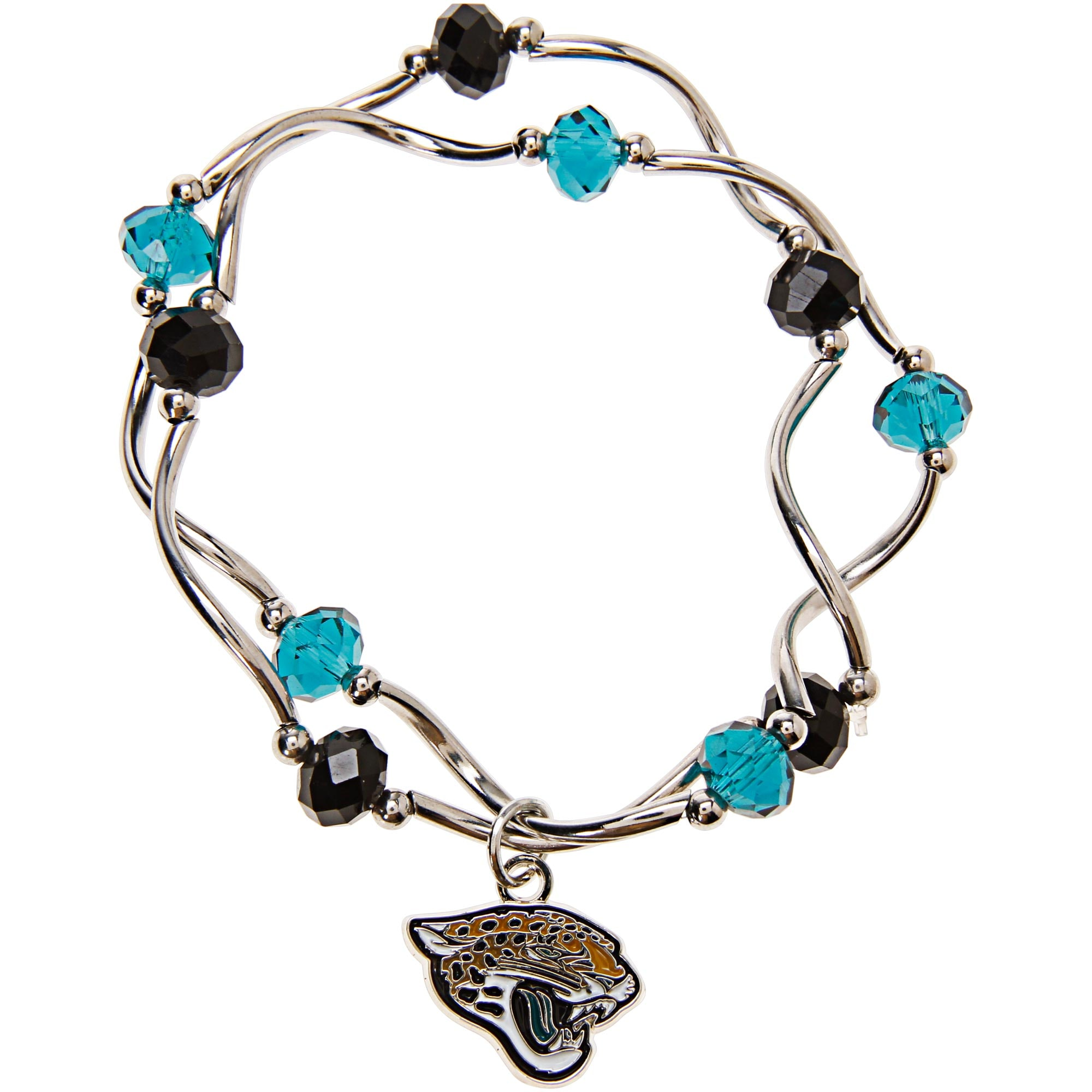 Jacksonville Jaguars Women's Bead Stretch Bracelet