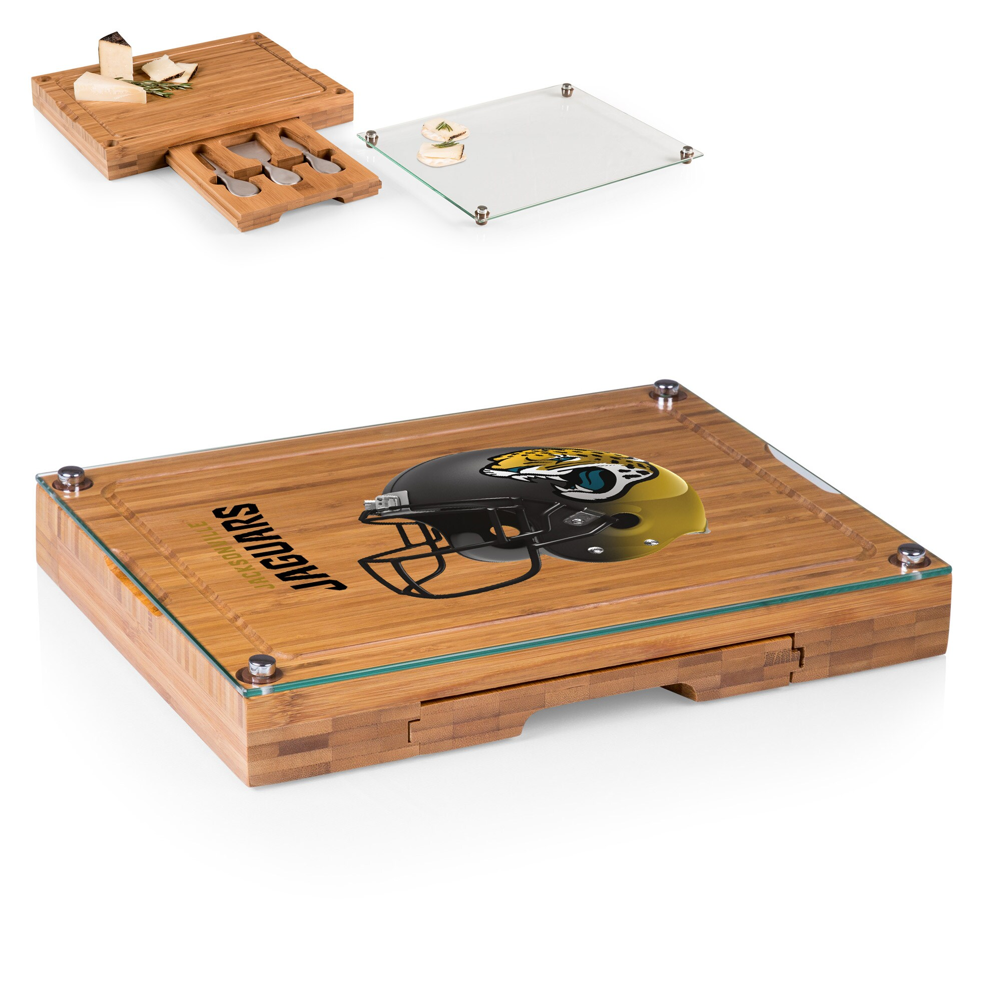 Jacksonville Jaguars Concerto Cheese Board with Serving Stage and Tools