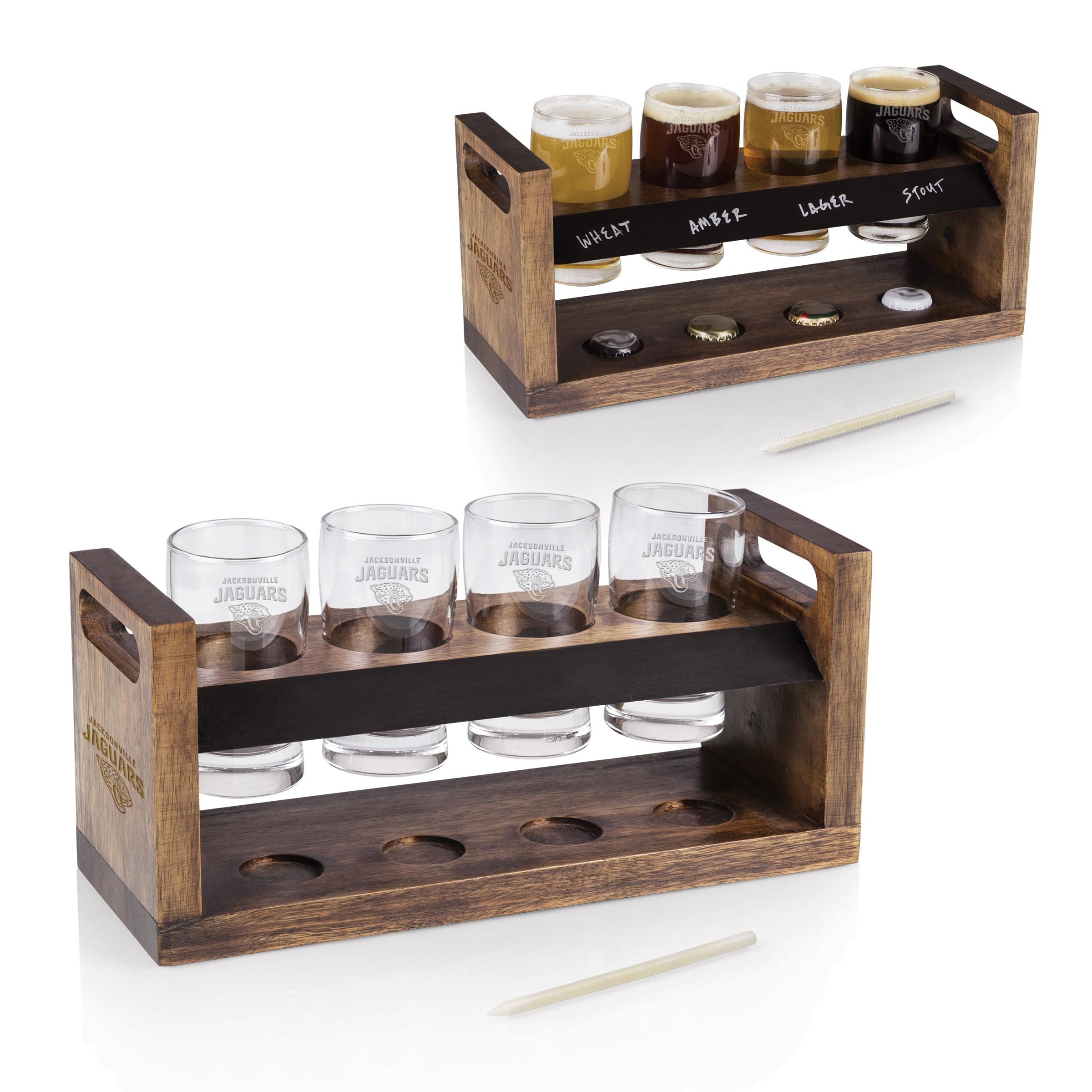 Jacksonville Jaguars Craft Beer Flight - Brown