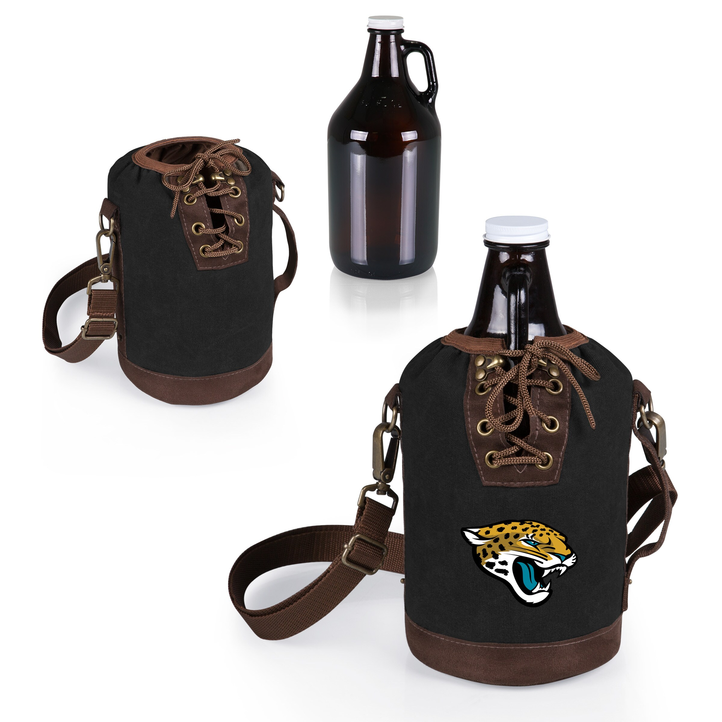 Jacksonville Jaguars Growler Tote with 64oz. Growler - Black