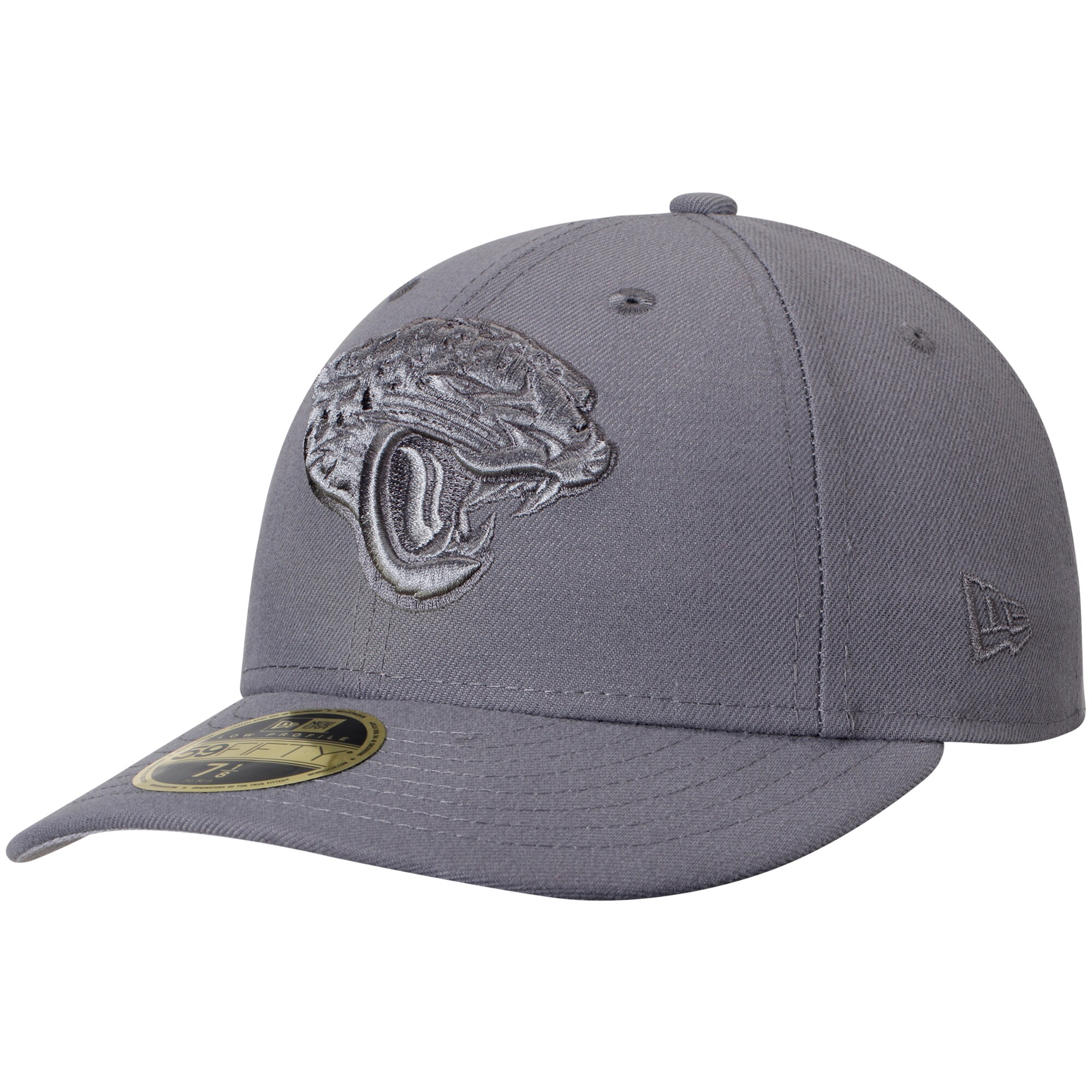 Jacksonville Jaguars New Era Storm Gray League Basic Low Profile 59FIFTY Structured Hat