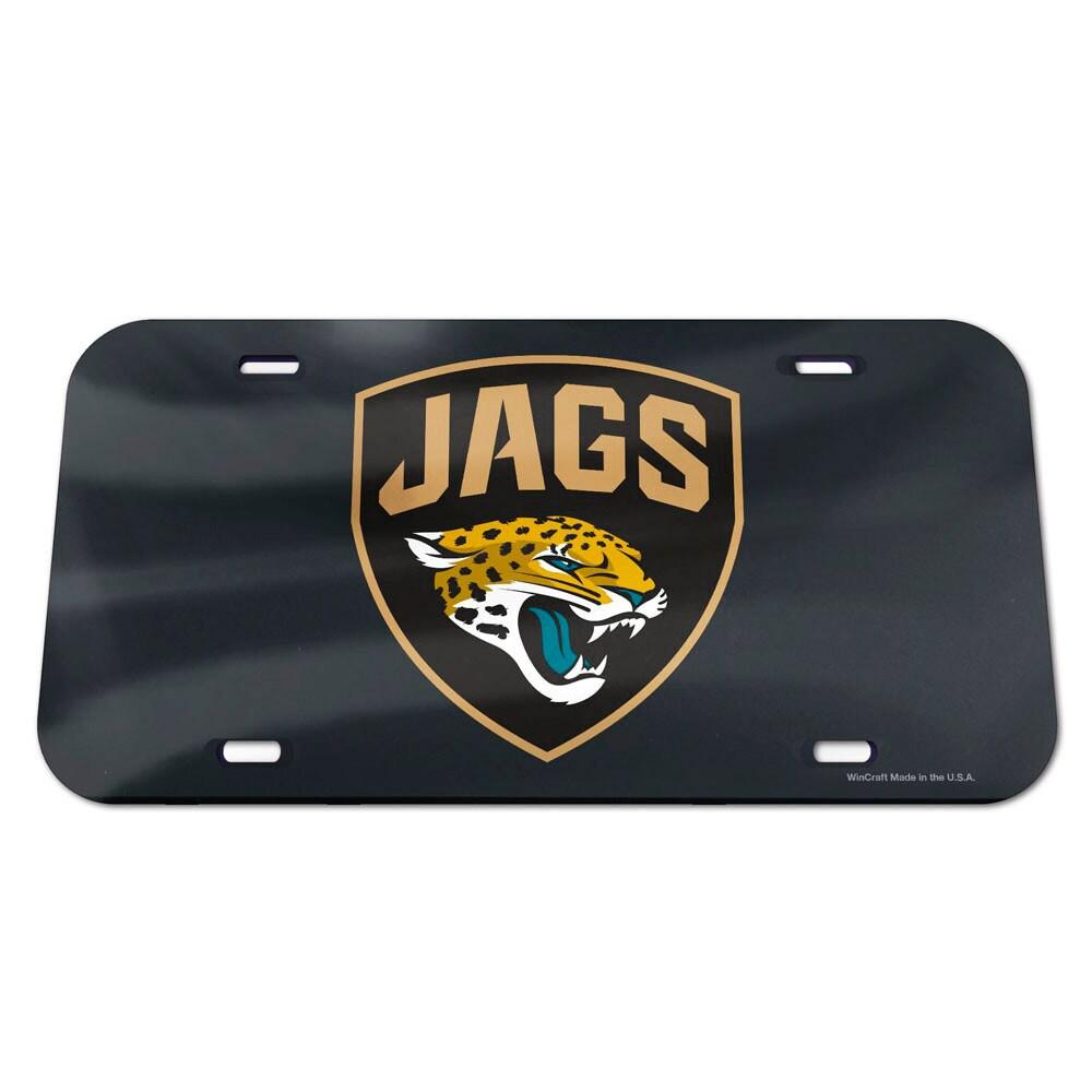 Jacksonville Jaguars WinCraft Logo Crystal Mirror License Plate