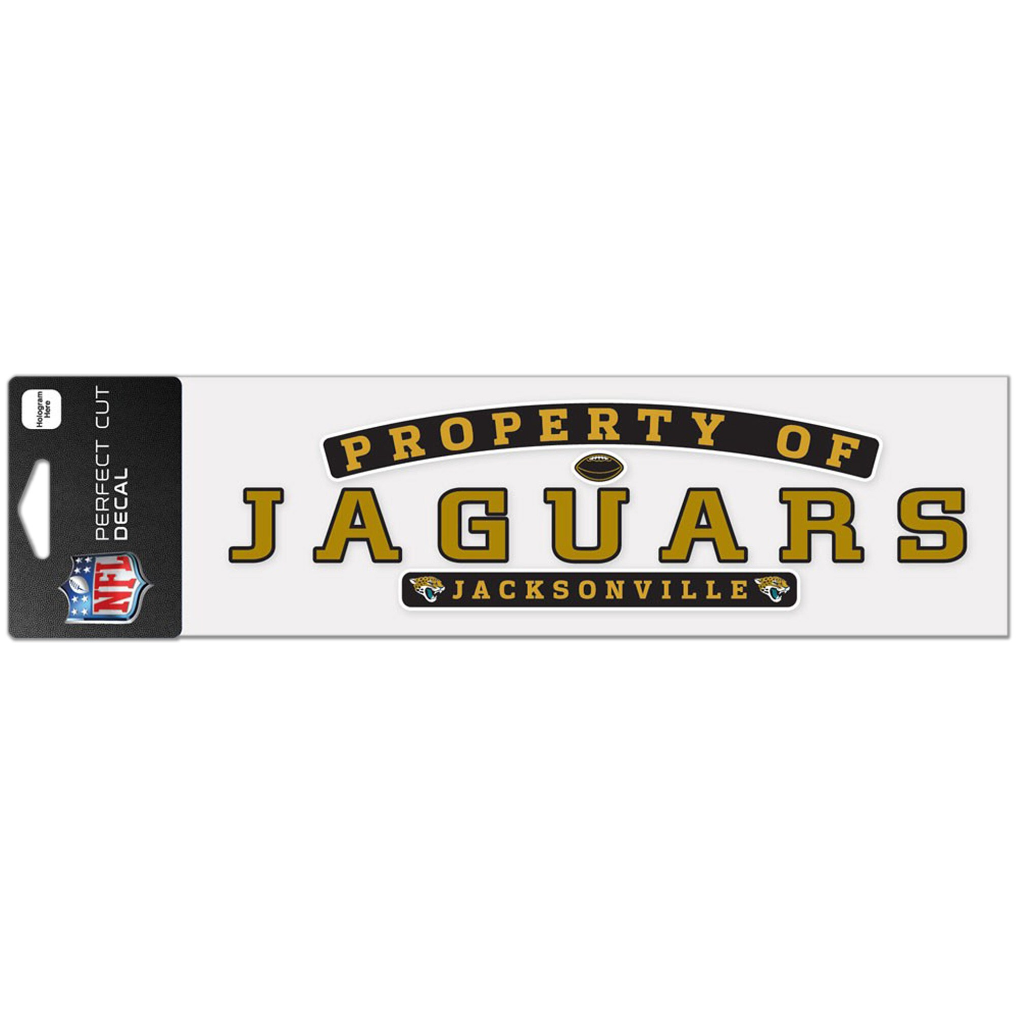"""Jacksonville Jaguars WinCraft 3"""" x 10"""" Property Of Perfect Cut Decal"""