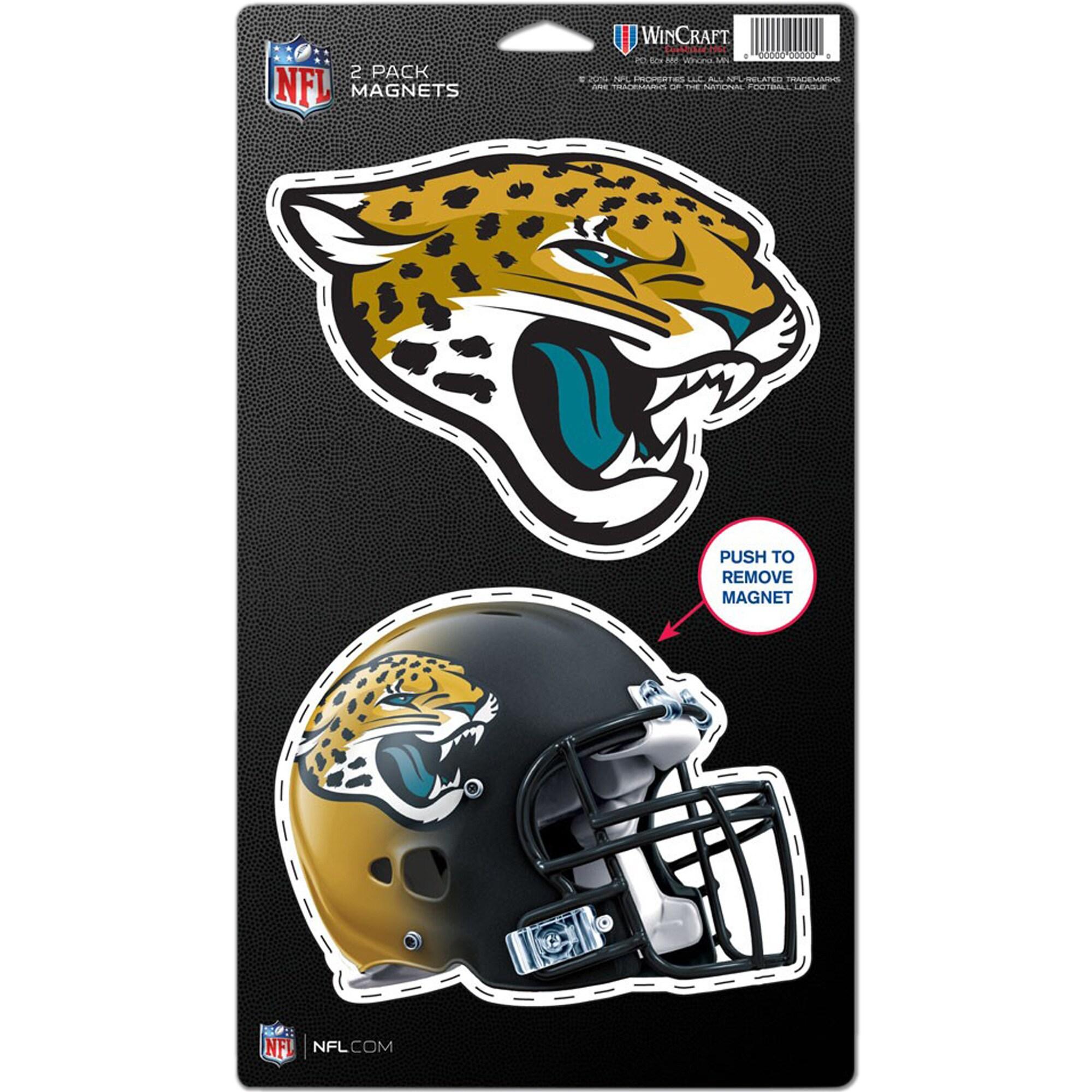 """Jacksonville Jaguars WinCraft 5"""" x 9"""" 2-Pack Magnet Set"""